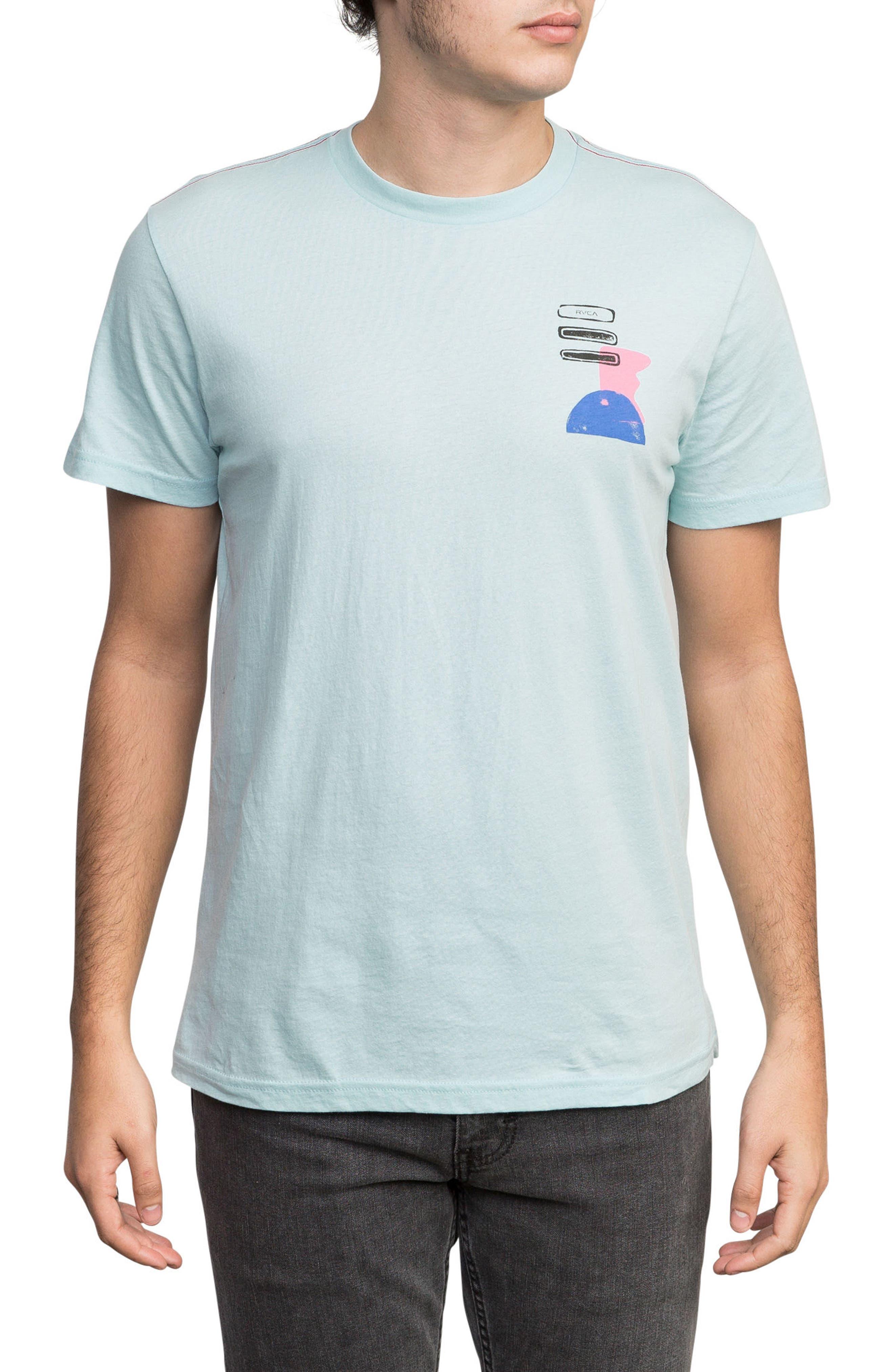 Block Print T-Shirt,                         Main,                         color, COSMOS