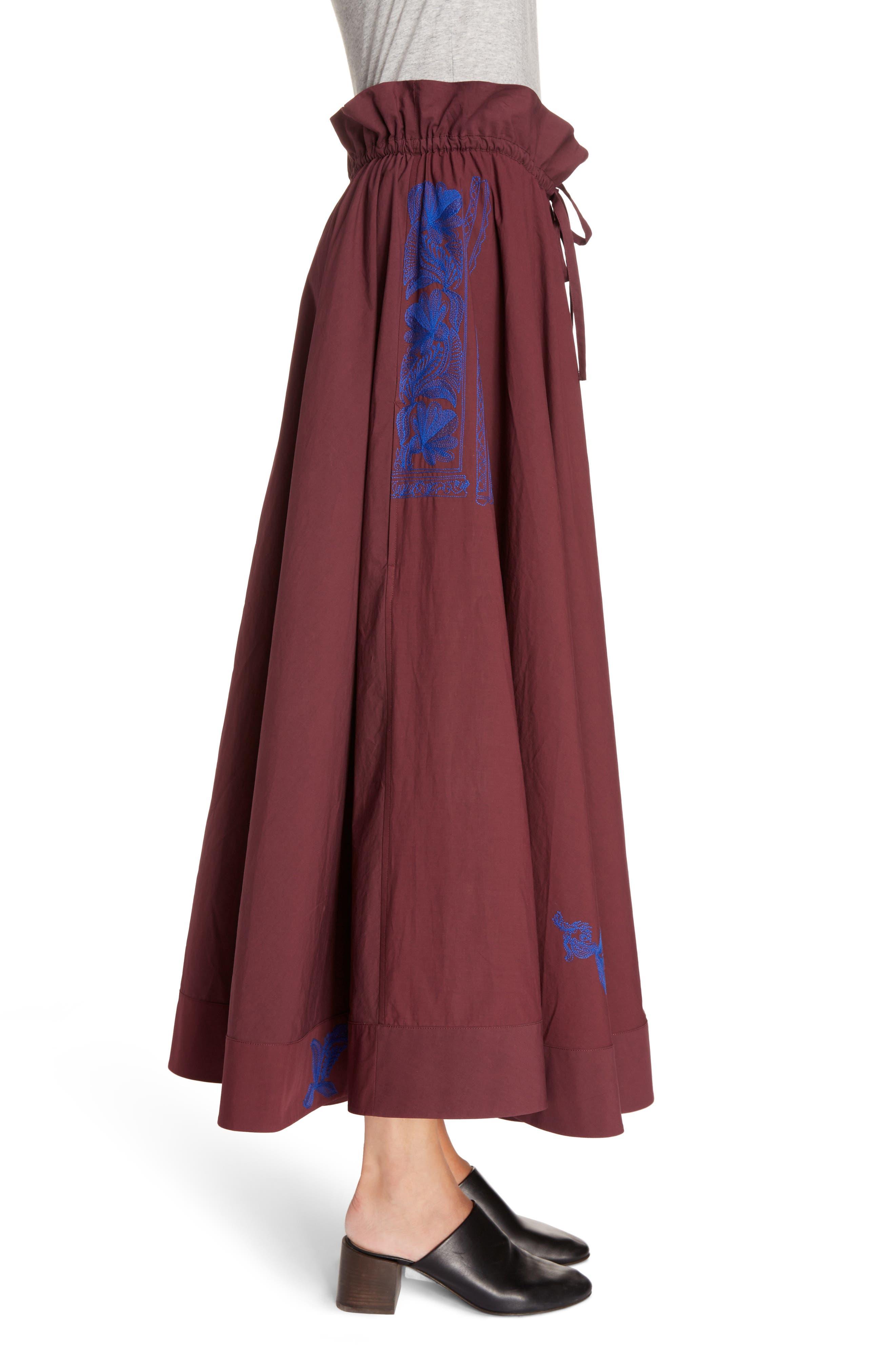 Hela Tie Waist Skirt,                             Alternate thumbnail 3, color,                             930