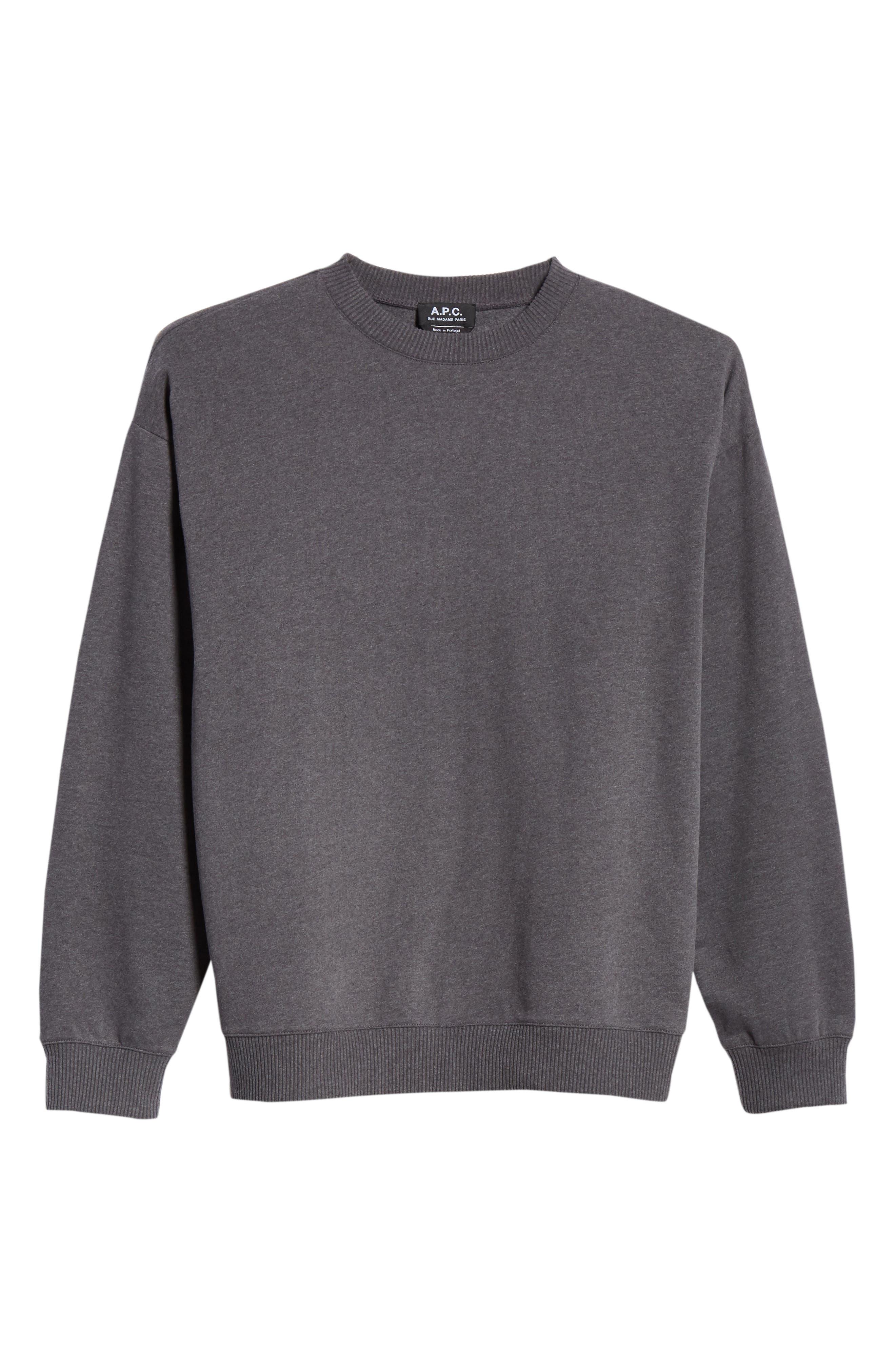 Roman Crewneck Sweatshirt,                             Alternate thumbnail 6, color,                             ANTHRACITE LAD