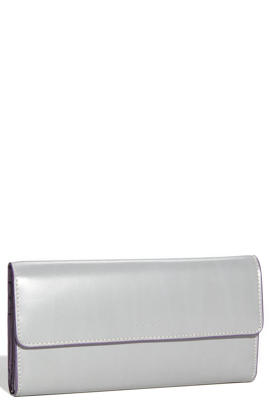 Lodis 'Audrey' Checkbook Clutch Wallet,                             Main thumbnail 1, color,                             035