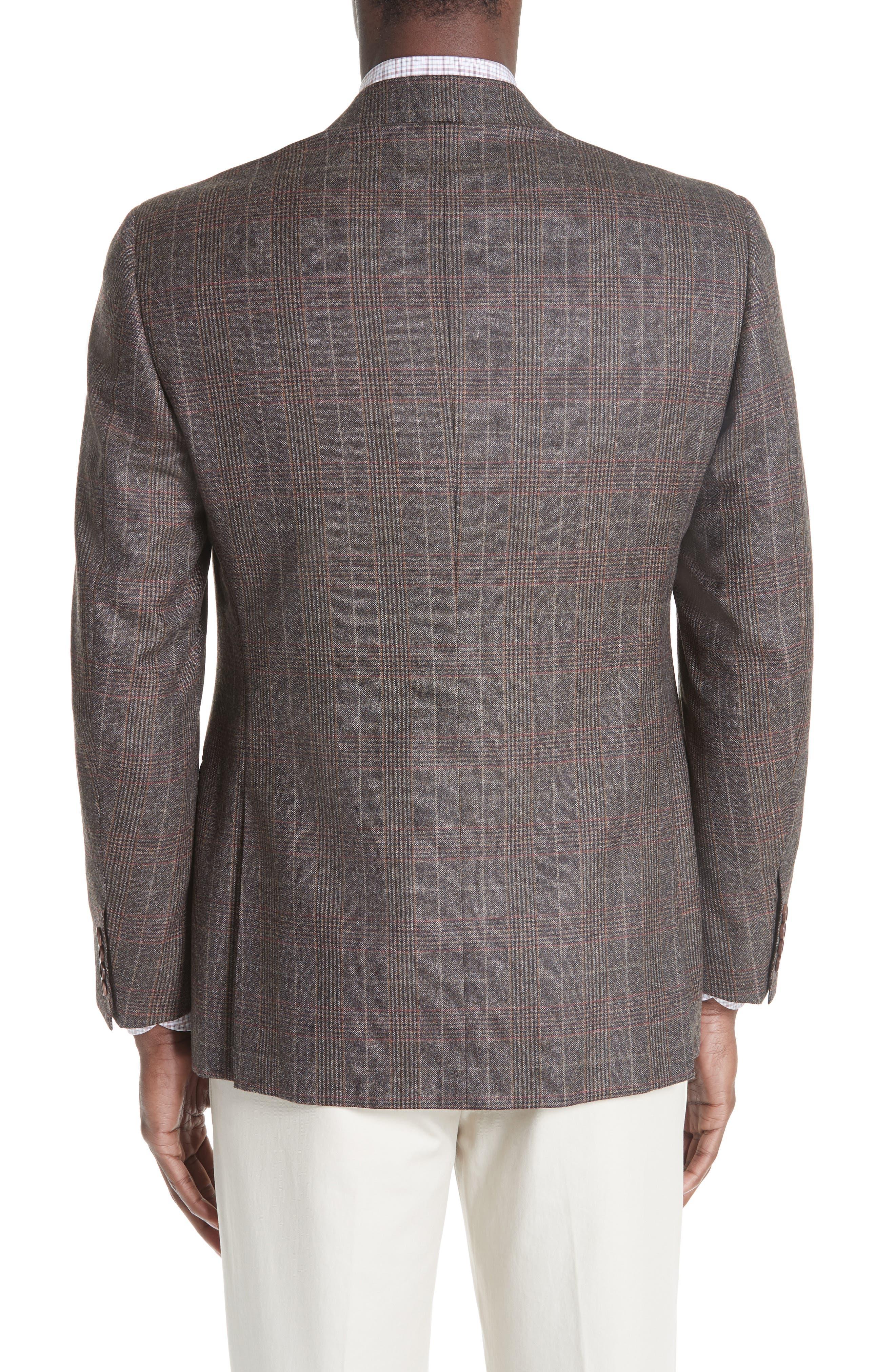 CANALI,                             Classic Fit Plaid Wool Sport Coat,                             Alternate thumbnail 2, color,                             200