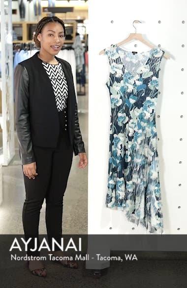 Floral Asymmetric Chiffon Dress, sales video thumbnail