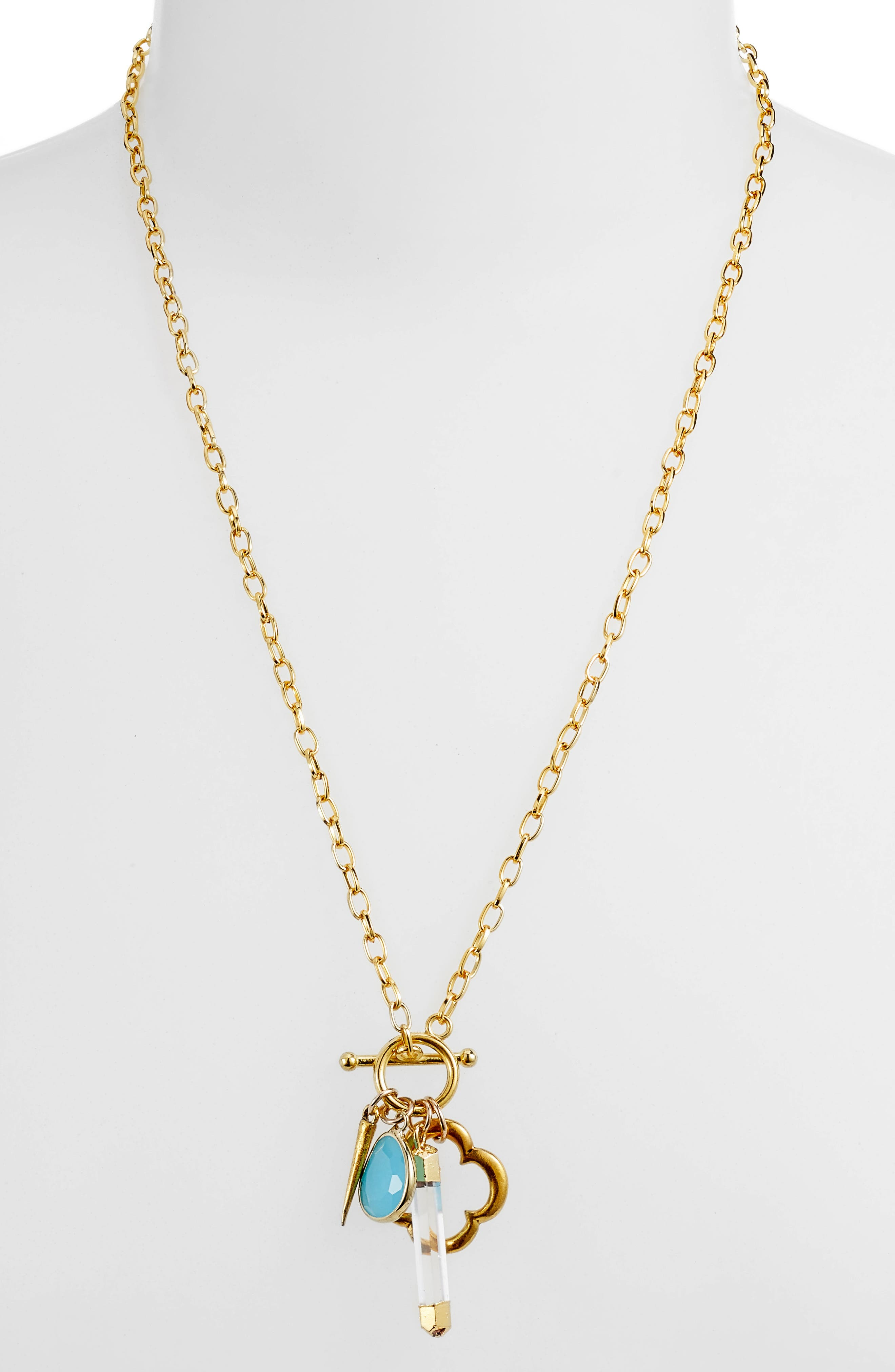 Flapper Multi Charm Necklace,                             Main thumbnail 1, color,