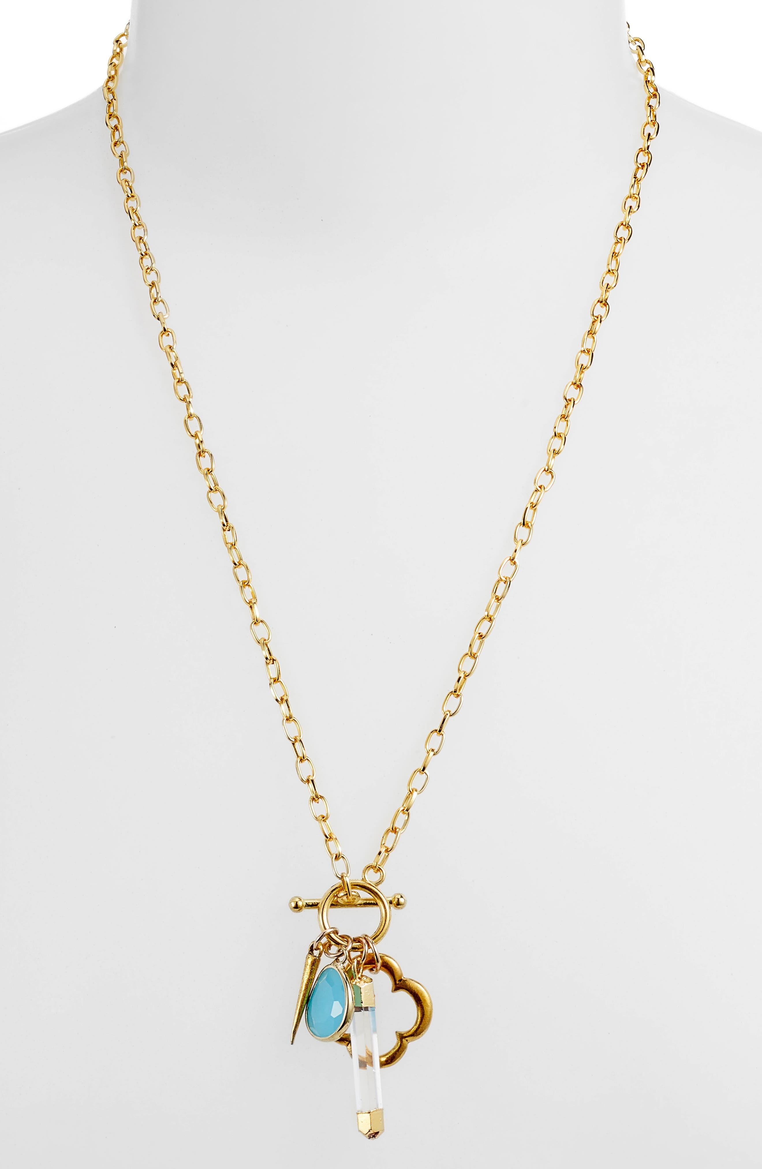 Flapper Multi Charm Necklace,                         Main,                         color,
