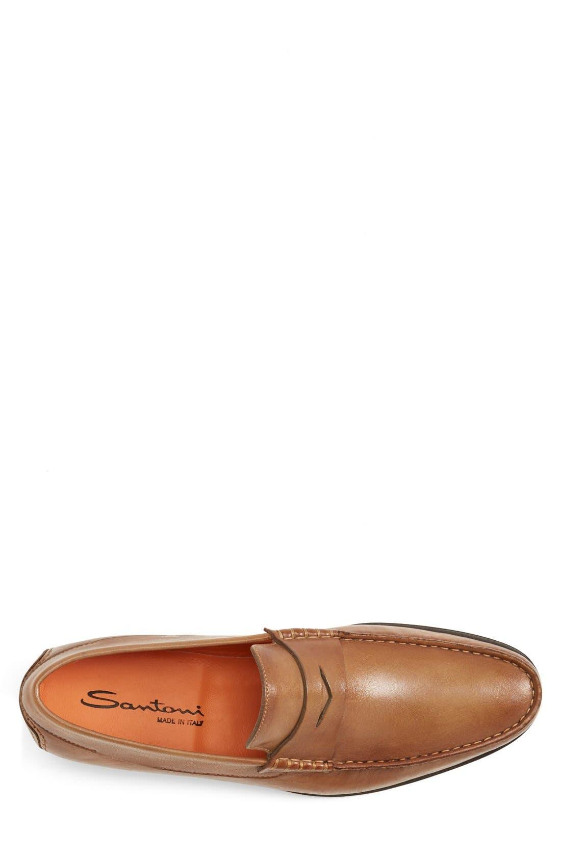 SANTONI,                             'Turner' Leather Penny Loafer,                             Alternate thumbnail 3, color,                             270