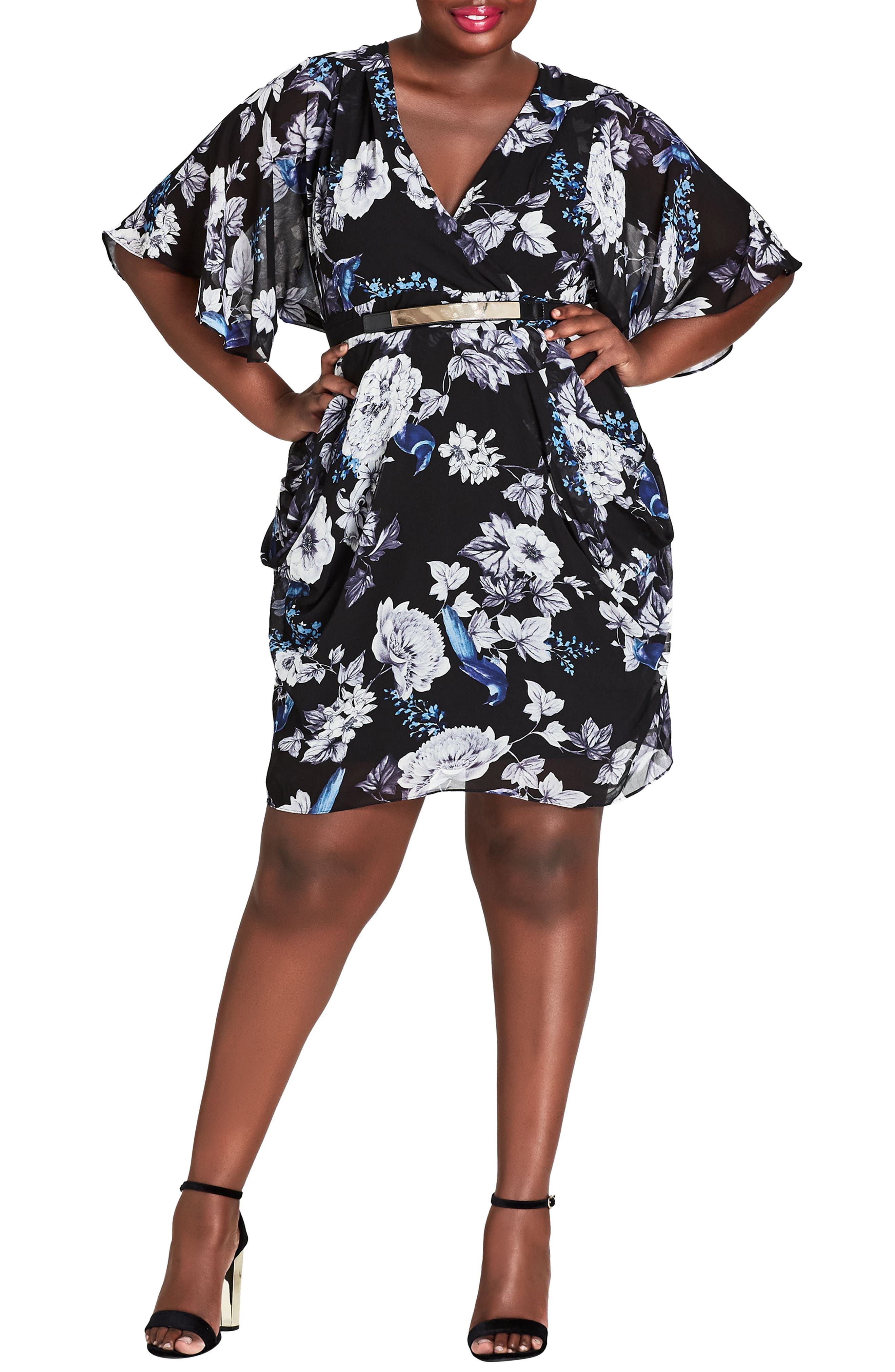 Plus Size City Chic Blackbird Dress