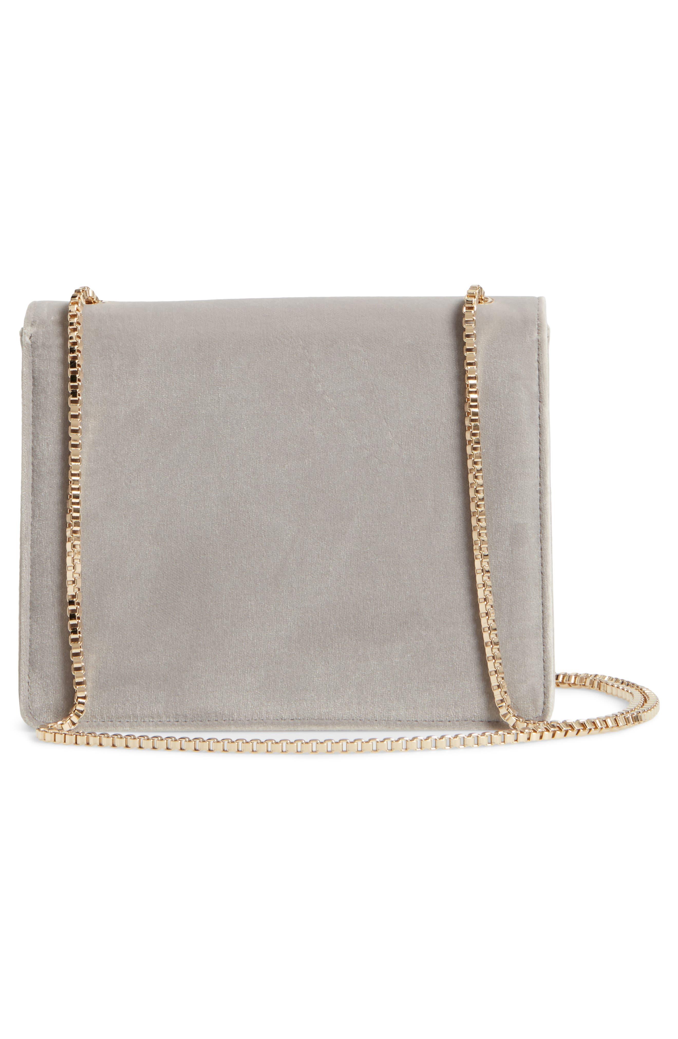 Small Thalia Velvet Crossbody Bag,                             Alternate thumbnail 3, color,                             032