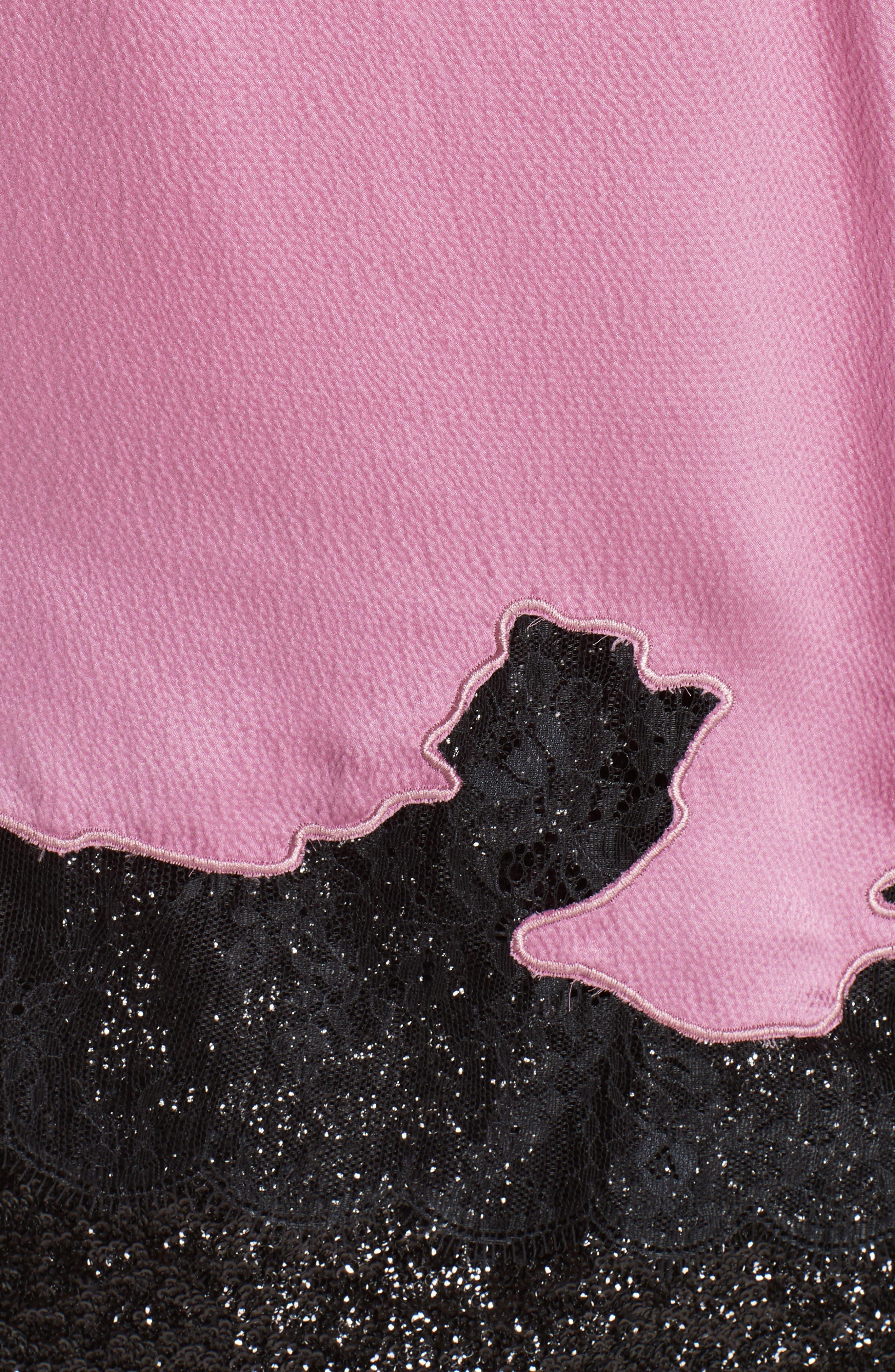Lace Trim Silk Camisole,                             Alternate thumbnail 4, color,                             VINTAGE ROSE