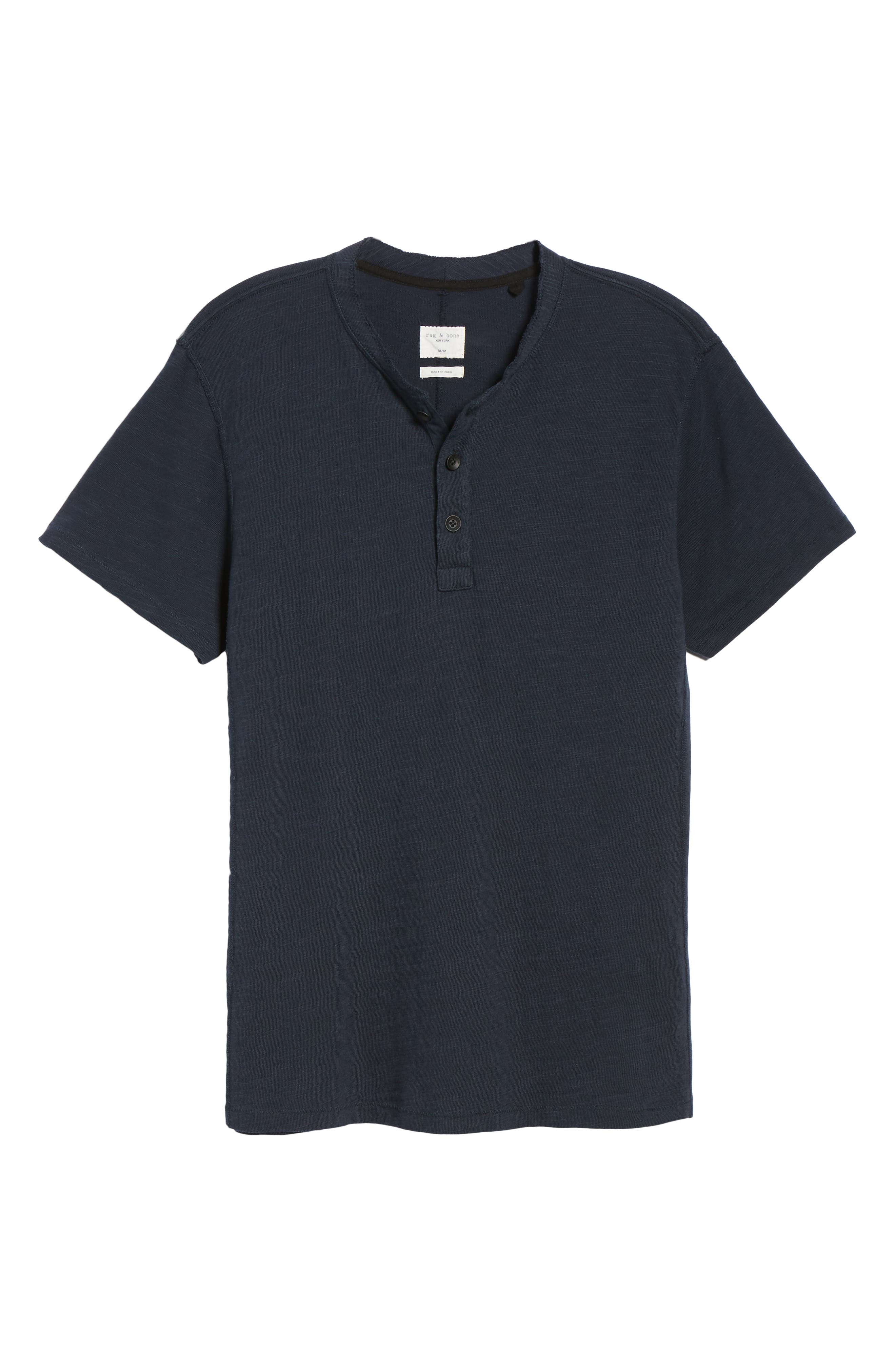 Standard Issue Henley T-Shirt,                             Alternate thumbnail 6, color,                             DEEP NAVY