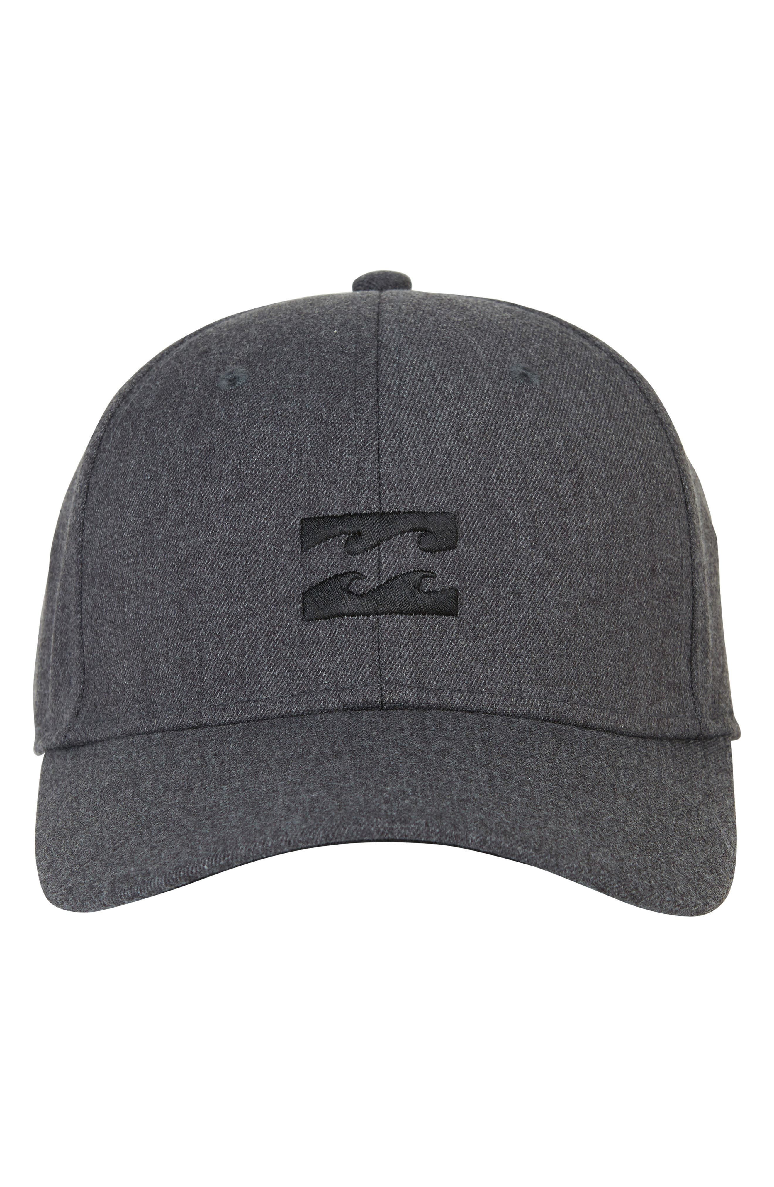 All Day Stretch Ball Cap,                             Alternate thumbnail 2, color,                             DARK GREY HEATHER