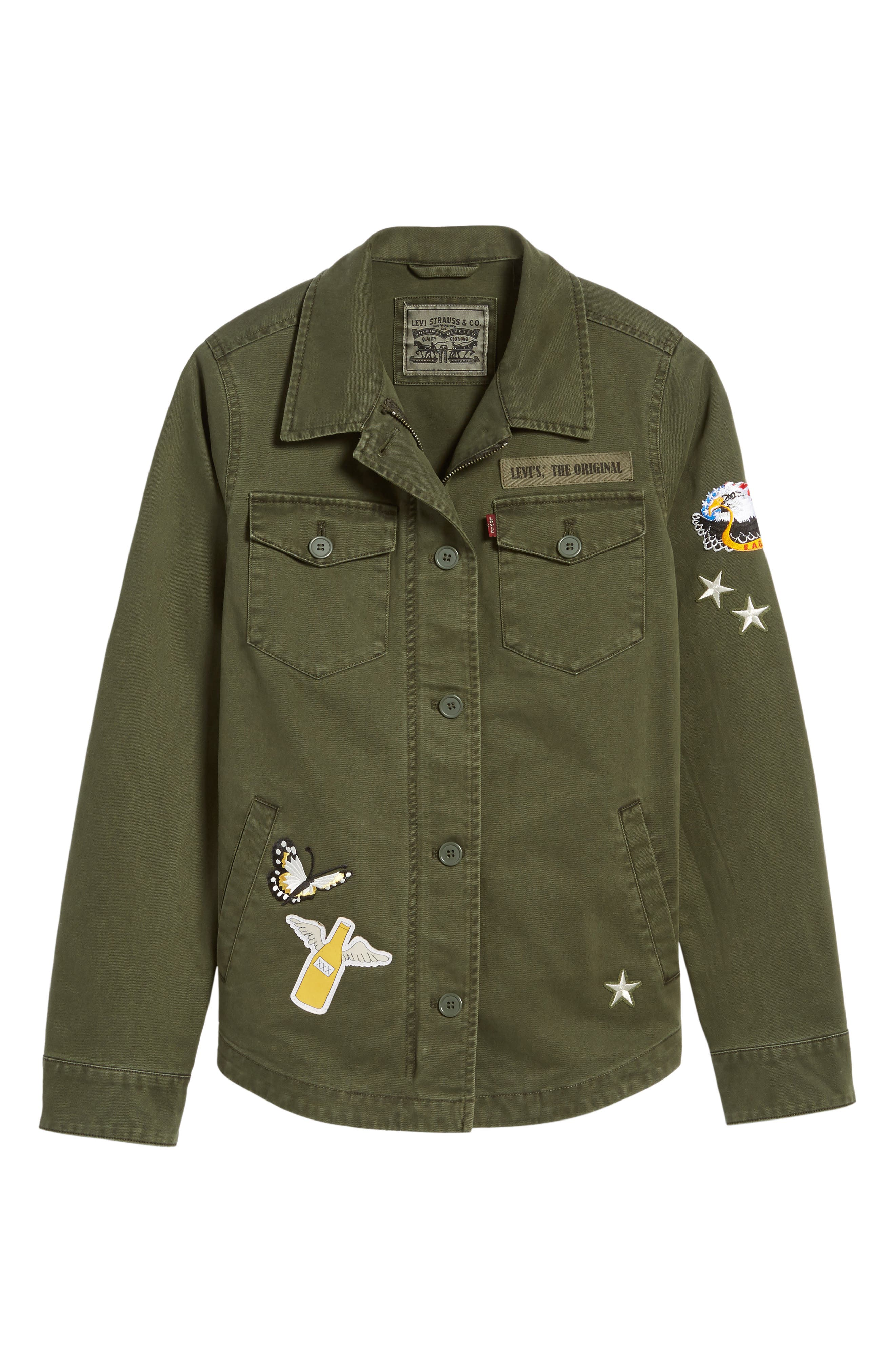 Cargo Jacket with Patches,                             Alternate thumbnail 5, color,                             317