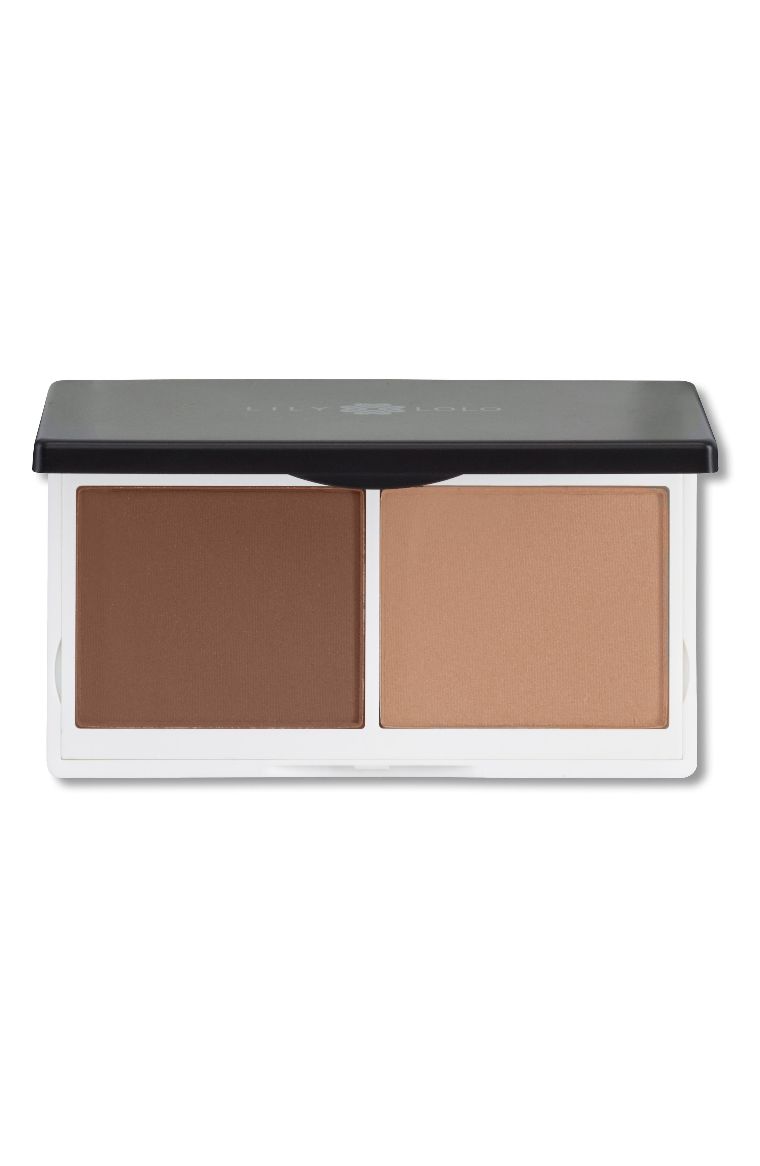 LILY LOLO,                             Sculpt & Glow Contour Duo,                             Main thumbnail 1, color,                             BRONZE
