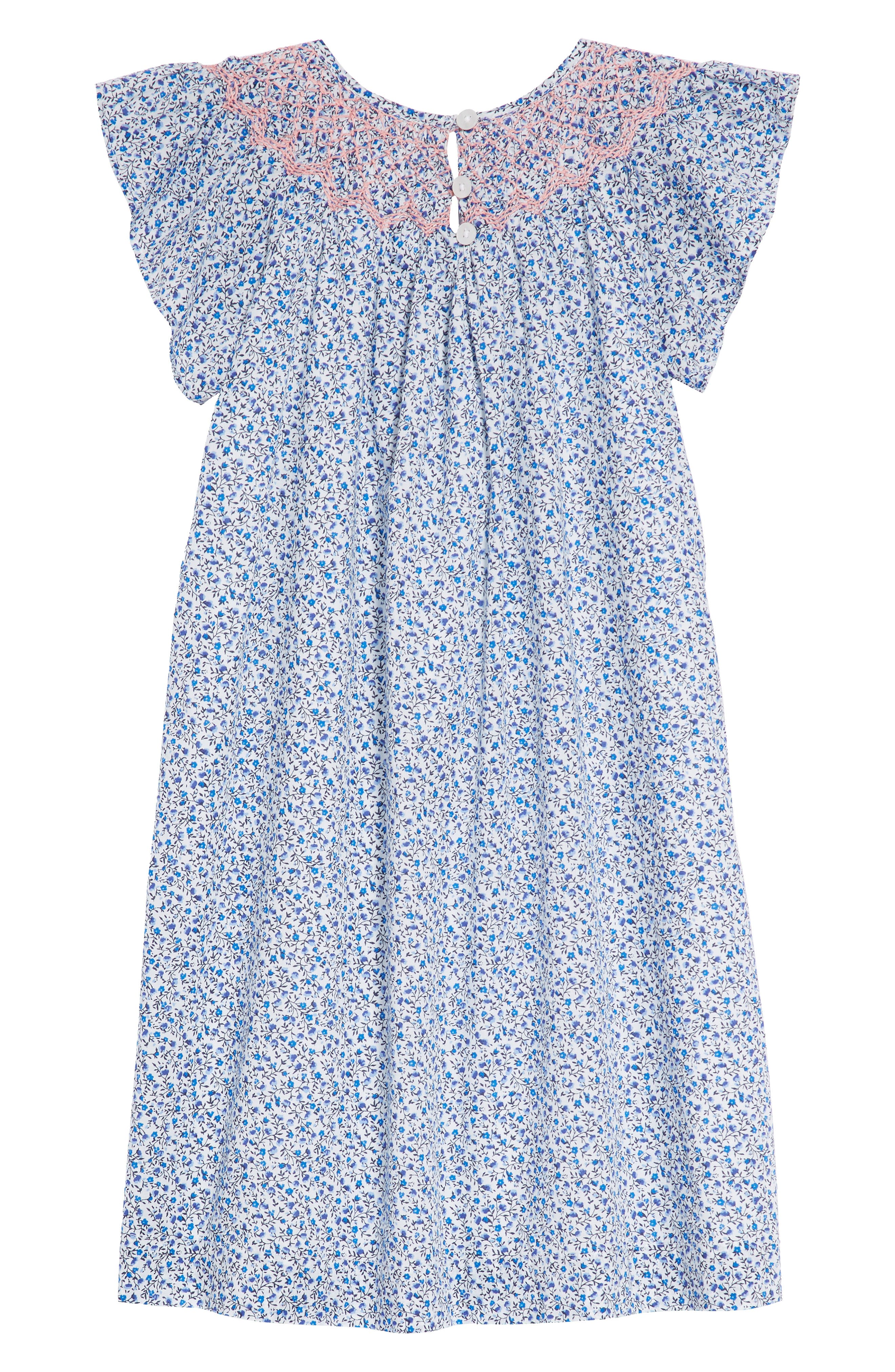RUBY & BLOOM,                             Smocked Ditzy Dress,                             Alternate thumbnail 2, color,                             100