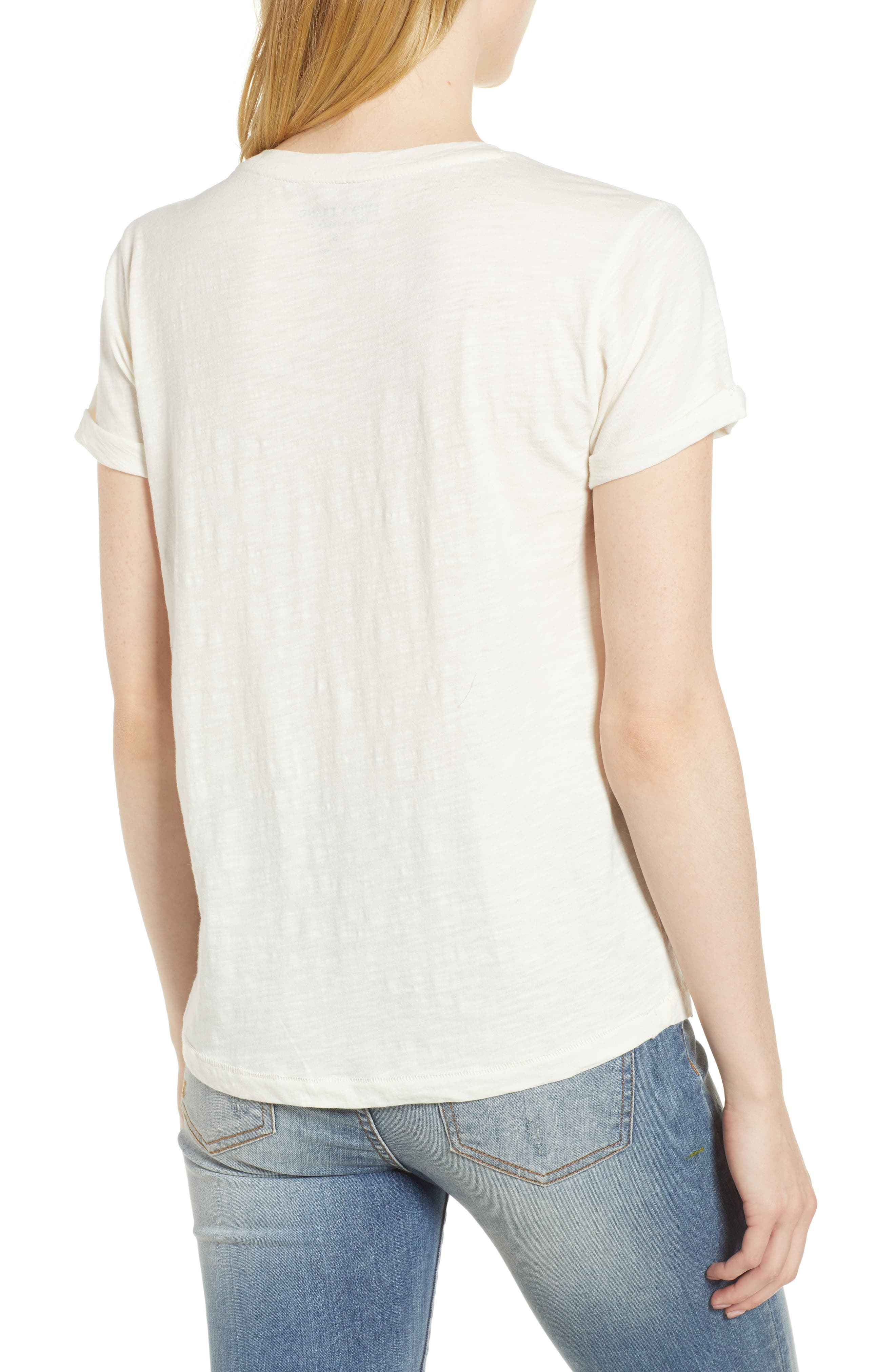 Embroidered Palm Tee,                             Alternate thumbnail 2, color,                             110