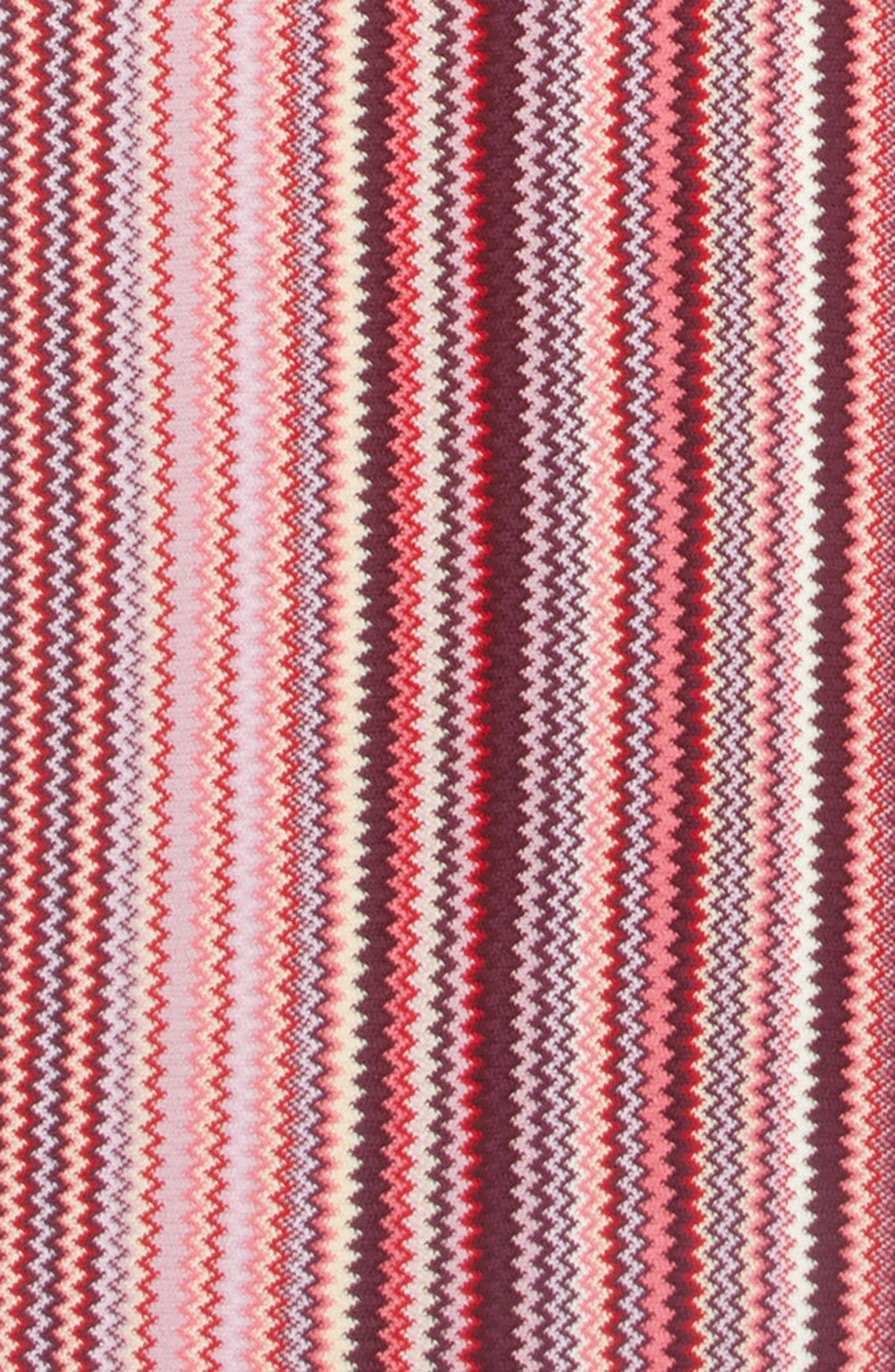 Multi Zigzag Scarf,                             Alternate thumbnail 4, color,                             PINK