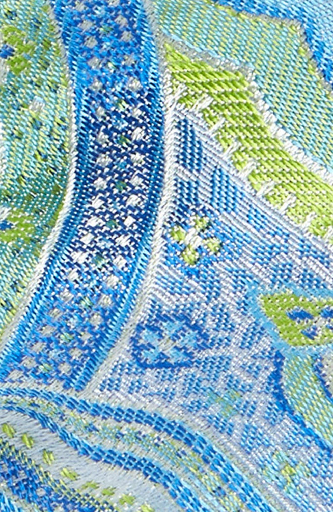 Paisley Silk Bow Tie,                             Alternate thumbnail 3, color,                             381