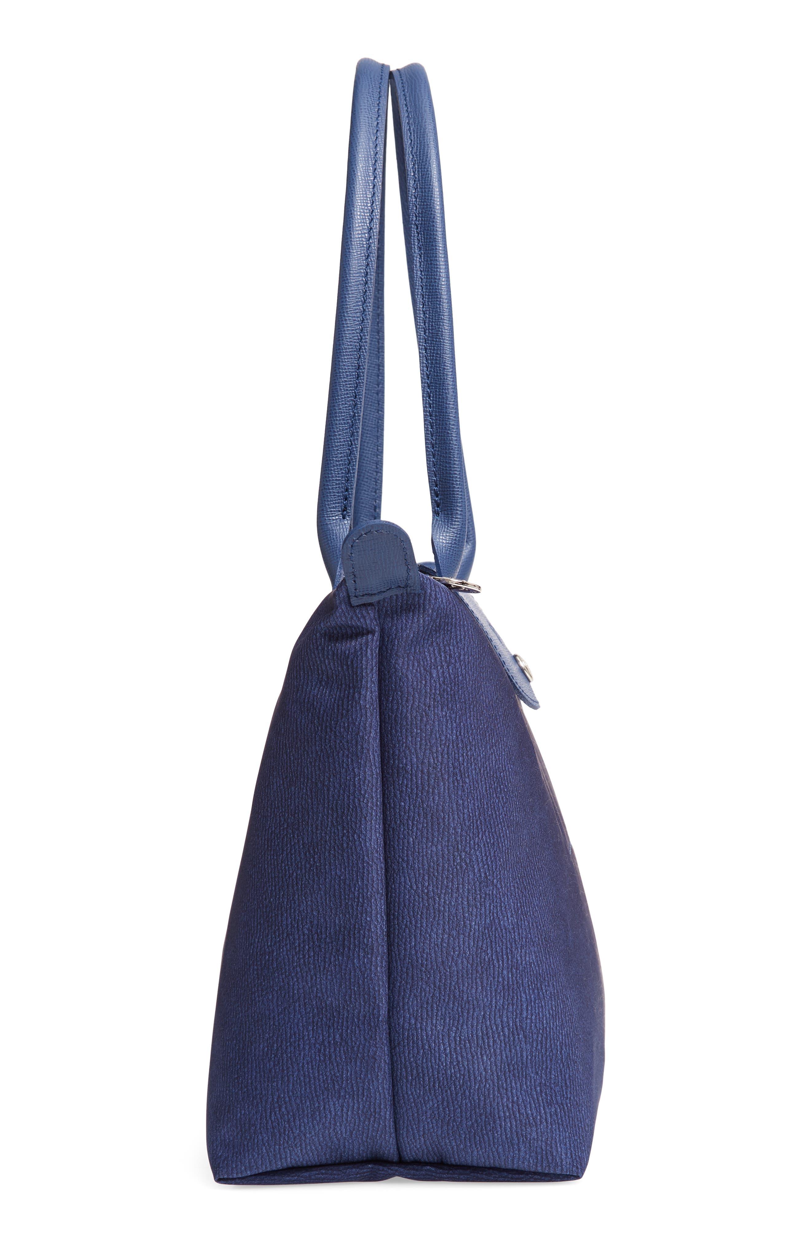 Le Pliage Jeans Small Shoulder Bag,                             Alternate thumbnail 5, color,                             DENIM
