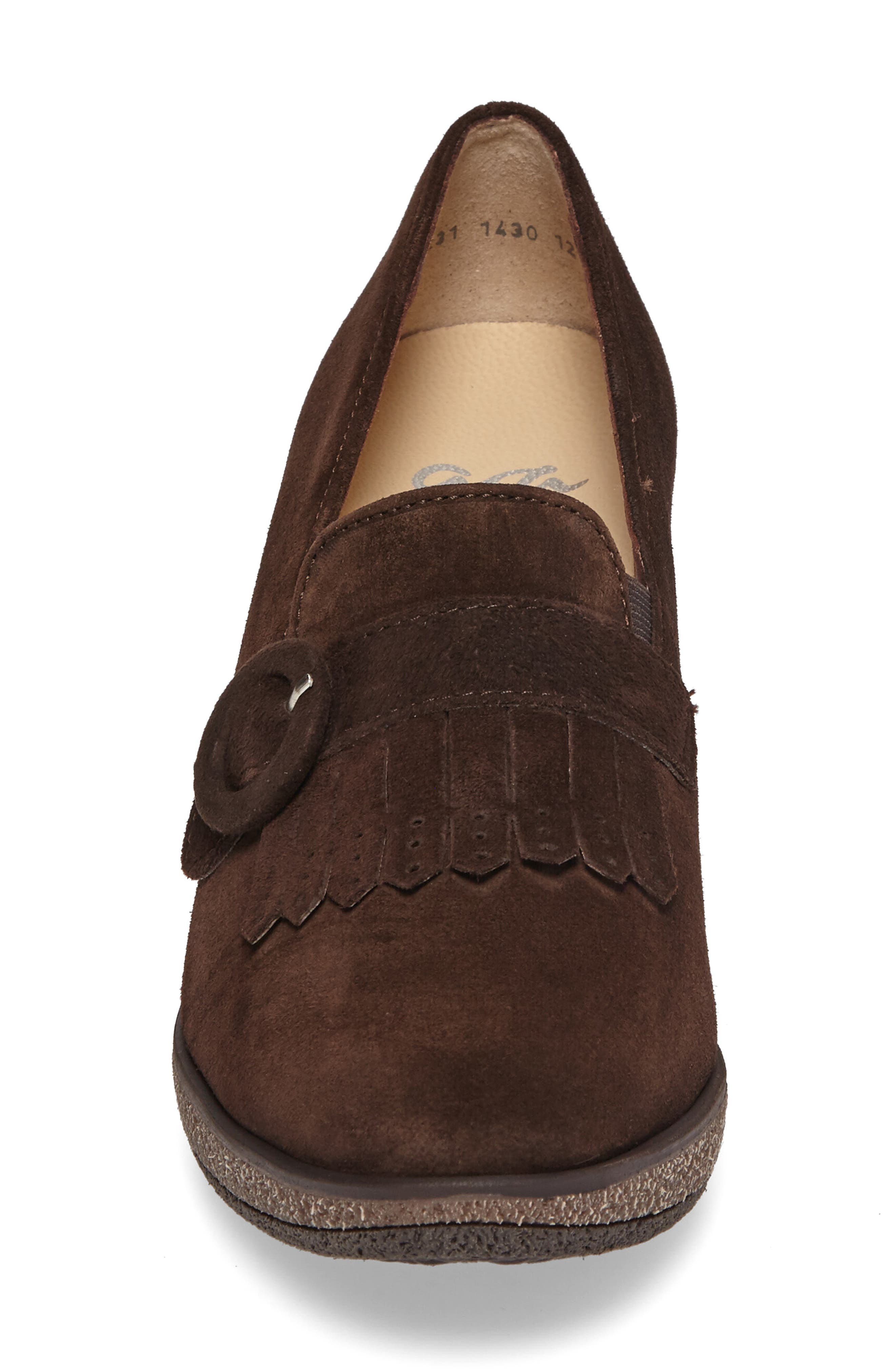 Becky Loafer Pump,                             Alternate thumbnail 4, color,                             BROWN SUEDE
