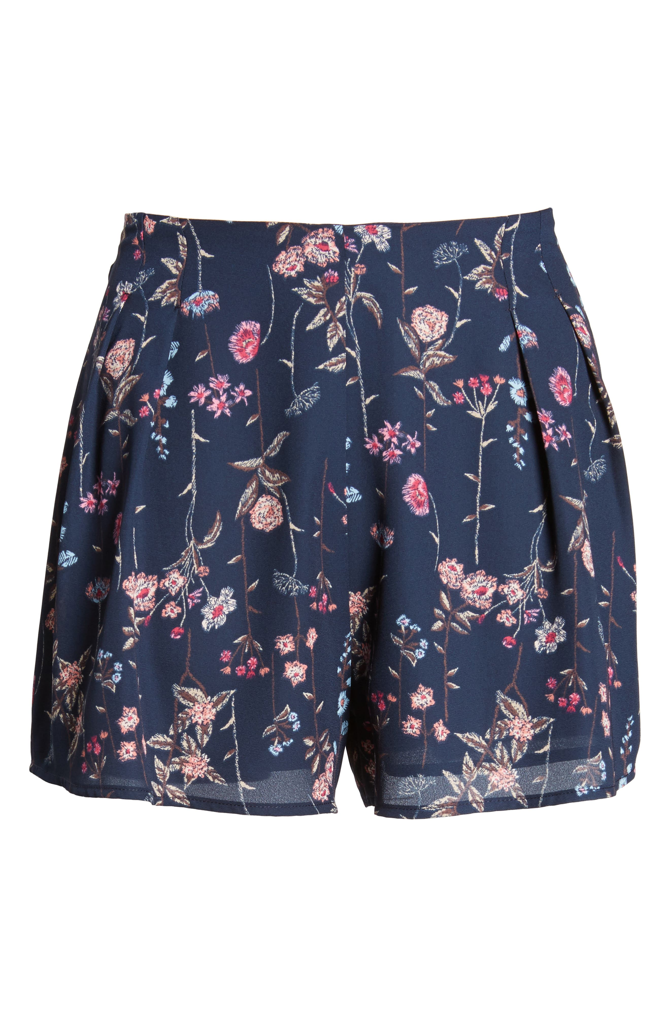 Pleat Front High Waist Shorts,                             Alternate thumbnail 17, color,