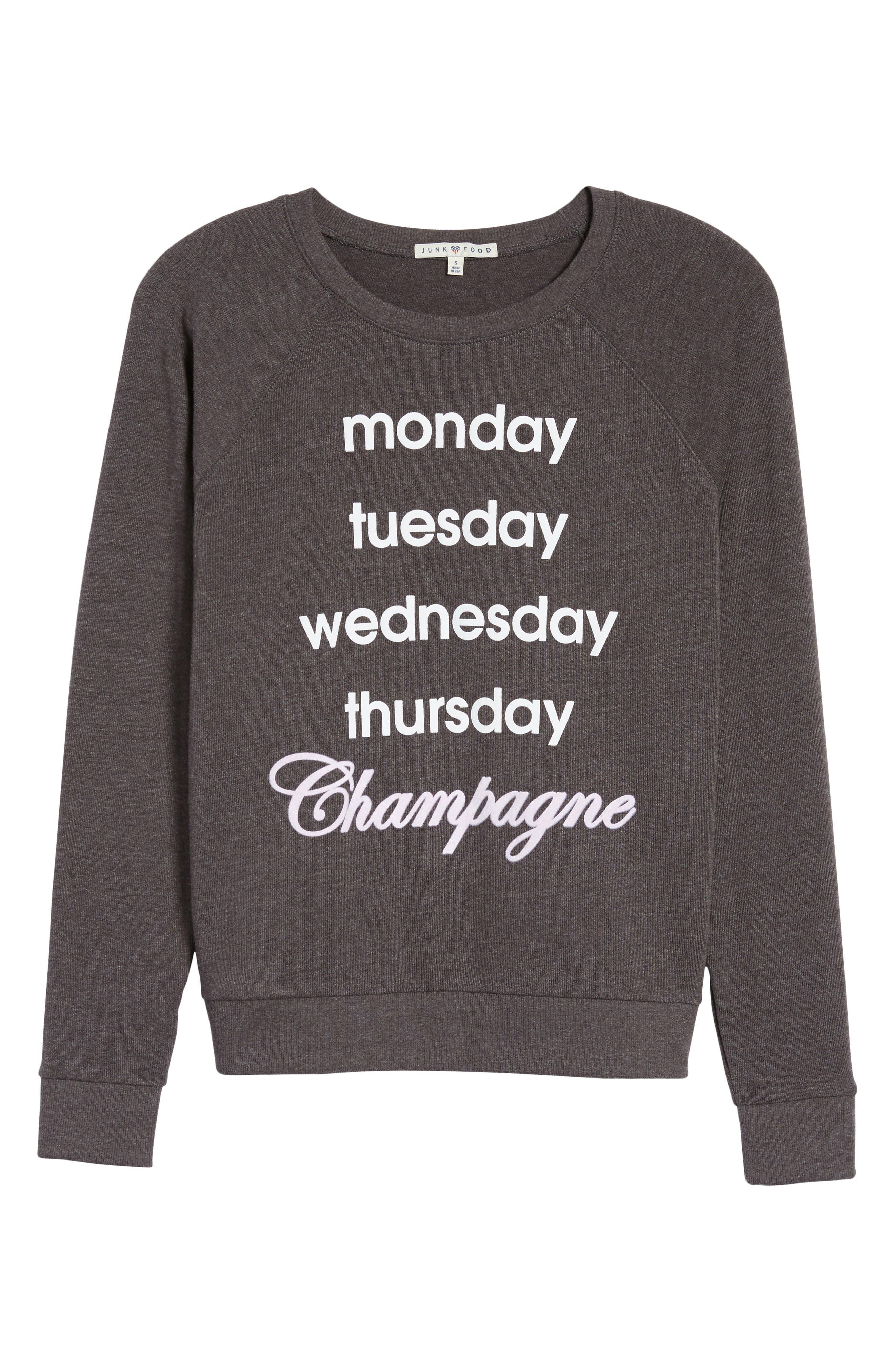 Champagne Hacci Sweatshirt,                             Alternate thumbnail 6, color,