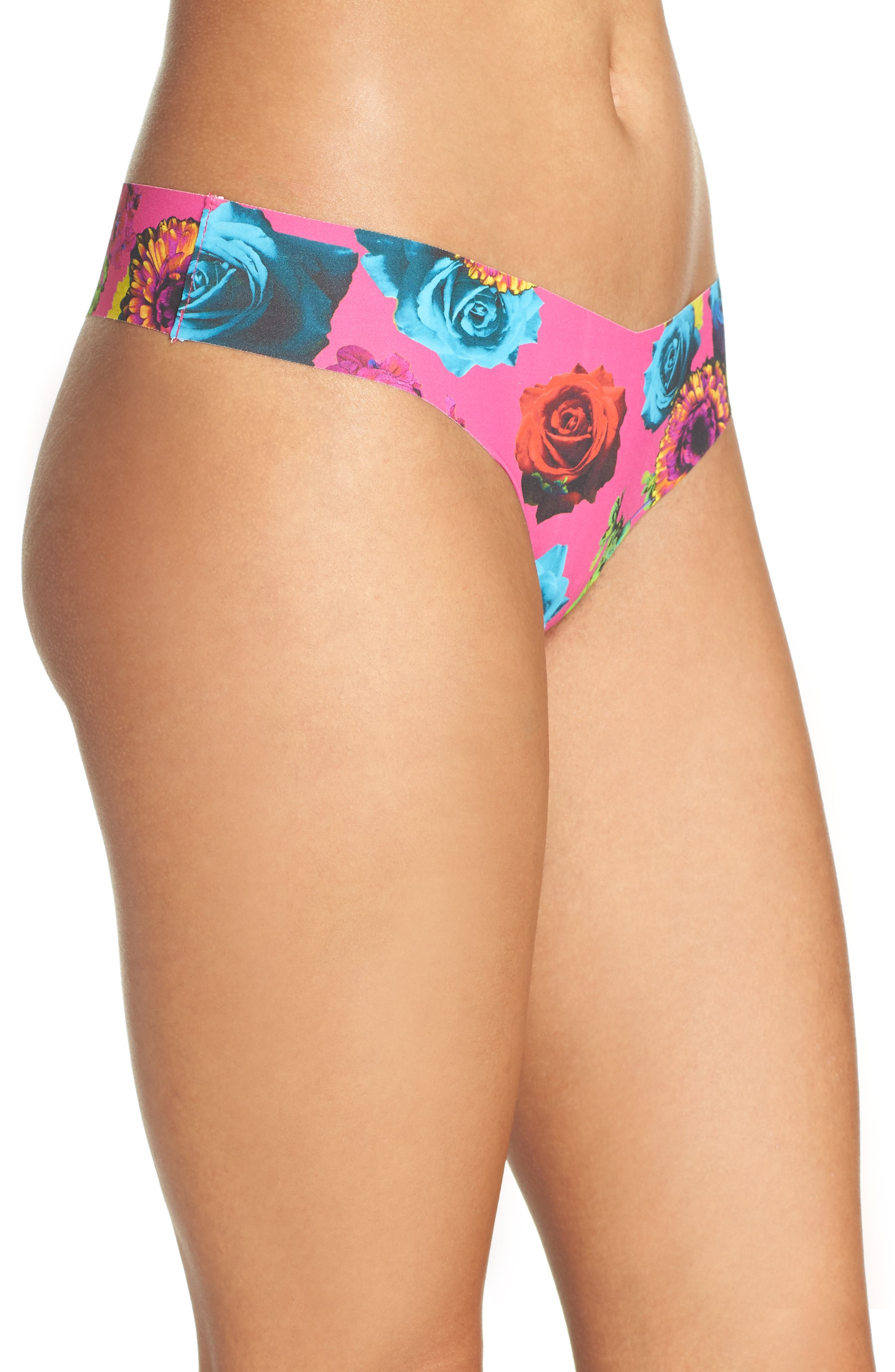 Print Microfiber Thong,                             Alternate thumbnail 311, color,
