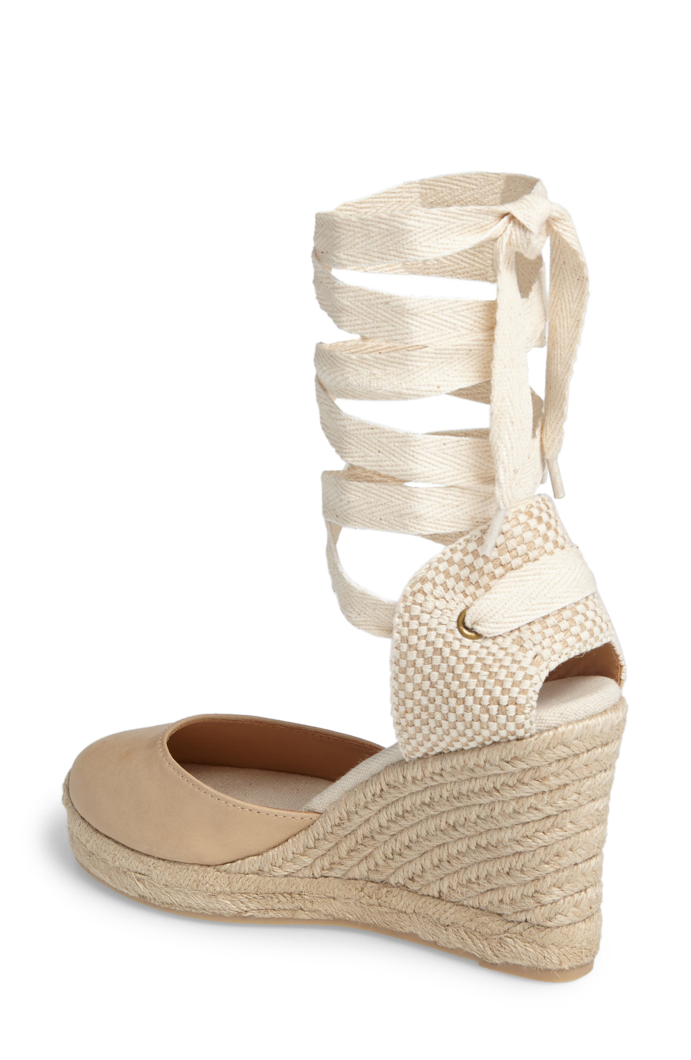 Lace-Up Espadrille Wedge,                             Alternate thumbnail 2, color,                             250