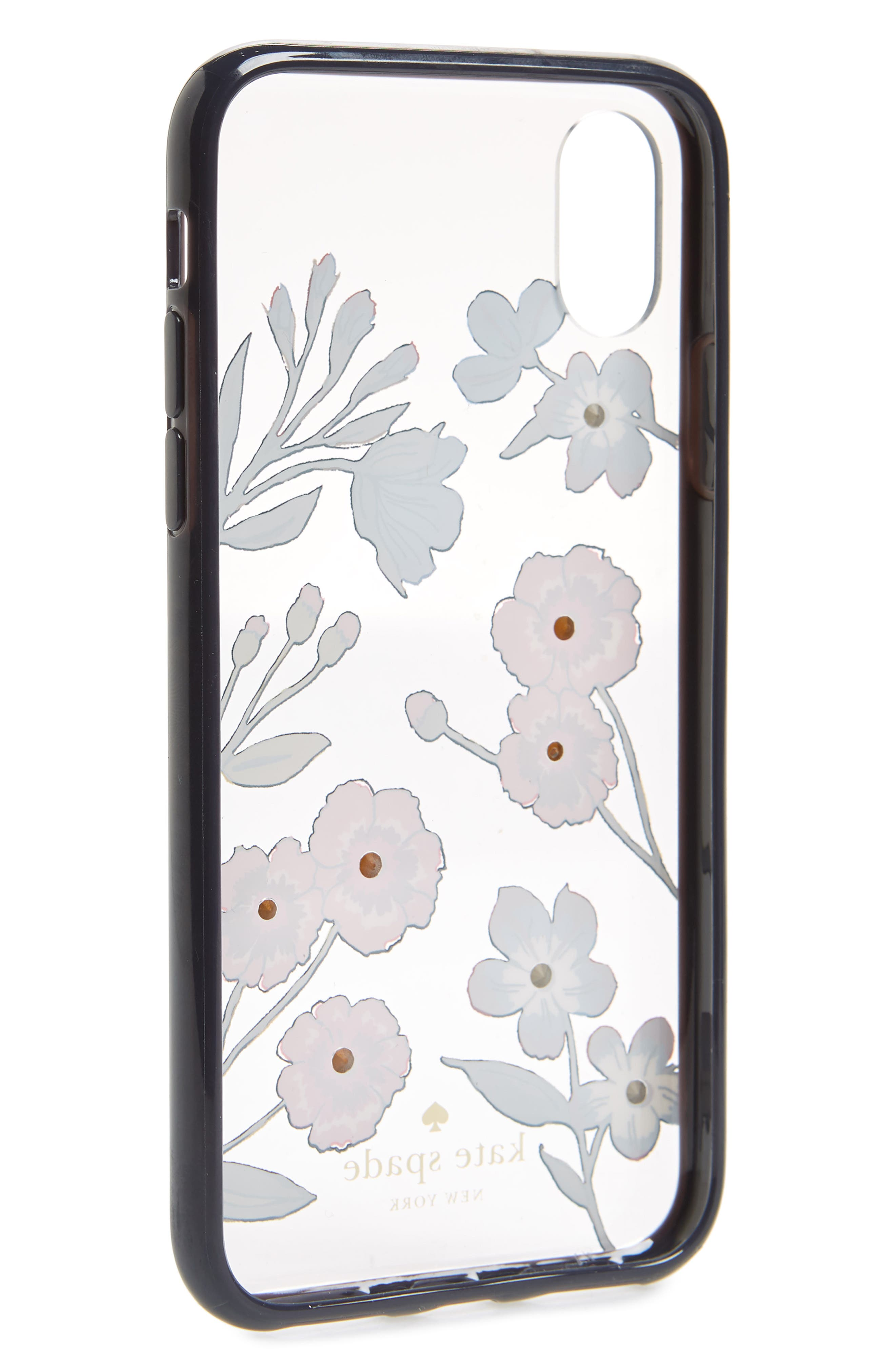 jeweled meadow iPhone X/Xs case,                             Alternate thumbnail 2, color,                             CLEAR MULTI