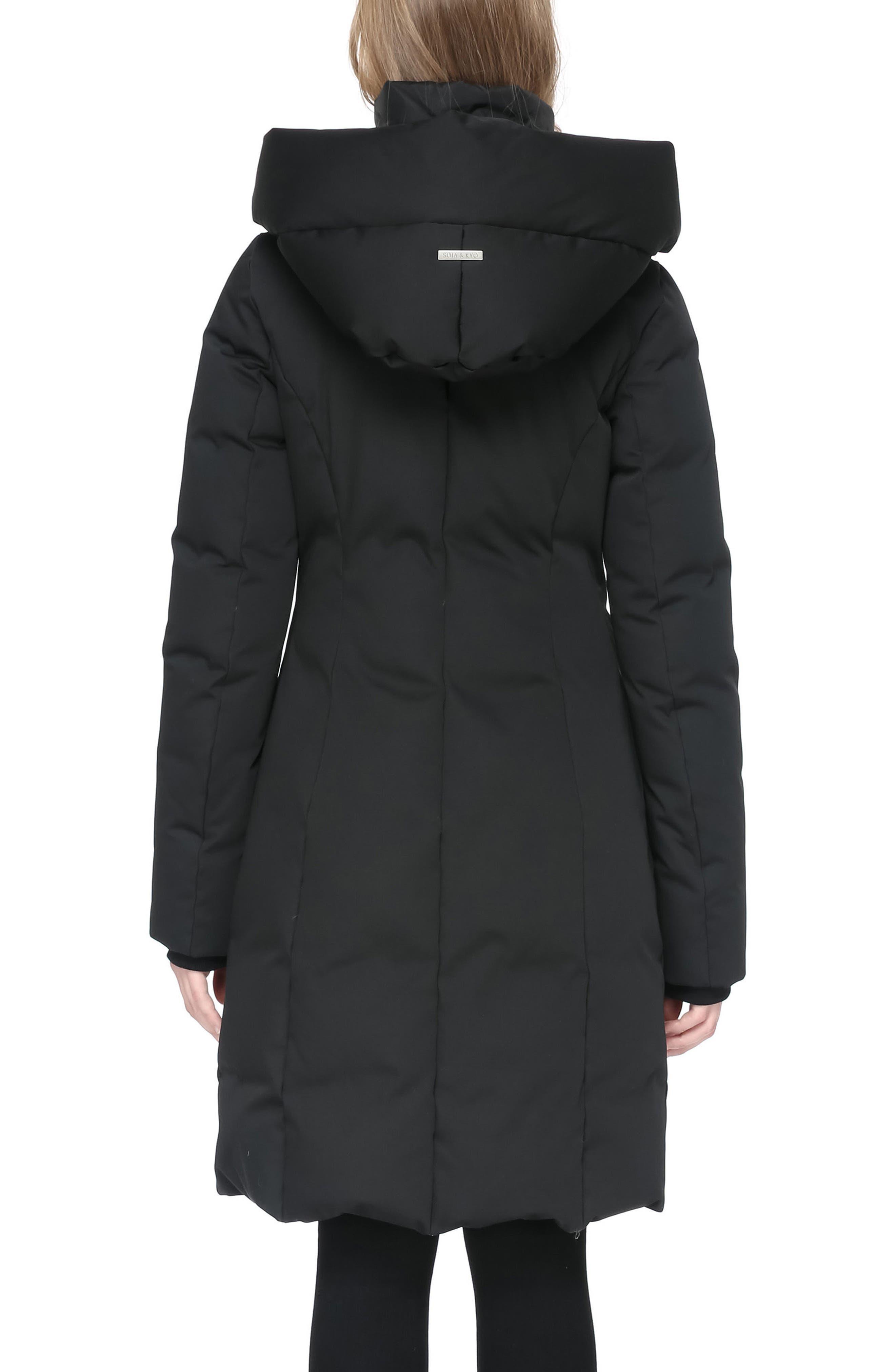 Hooded Down Coat,                             Alternate thumbnail 2, color,                             001