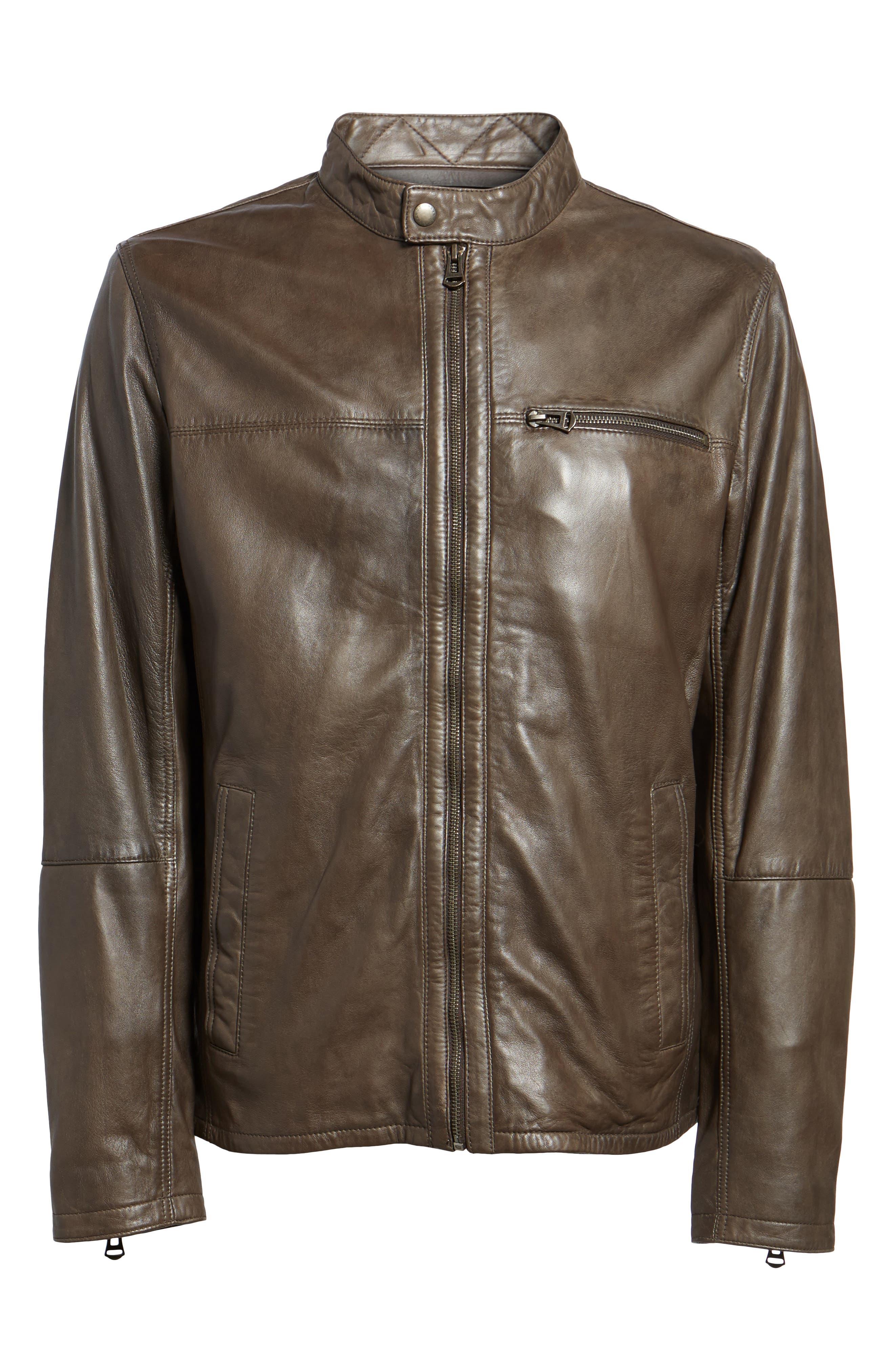 Washed Lamb Leather Moto Jacket,                             Alternate thumbnail 10, color,