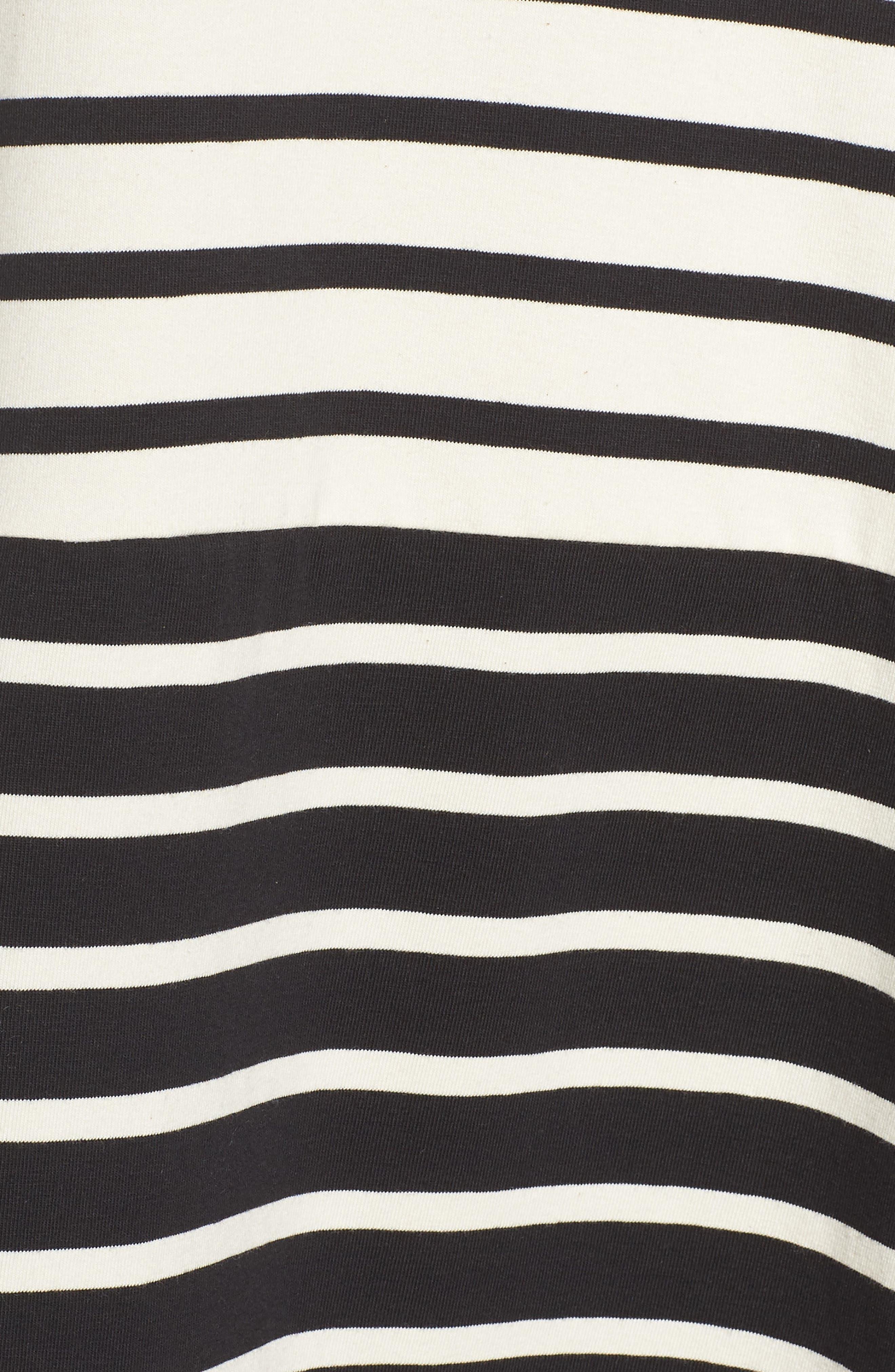 Tim Tim Stripe Shift Dress,                             Alternate thumbnail 6, color,                             CLASSIC CREAM/ BLACK