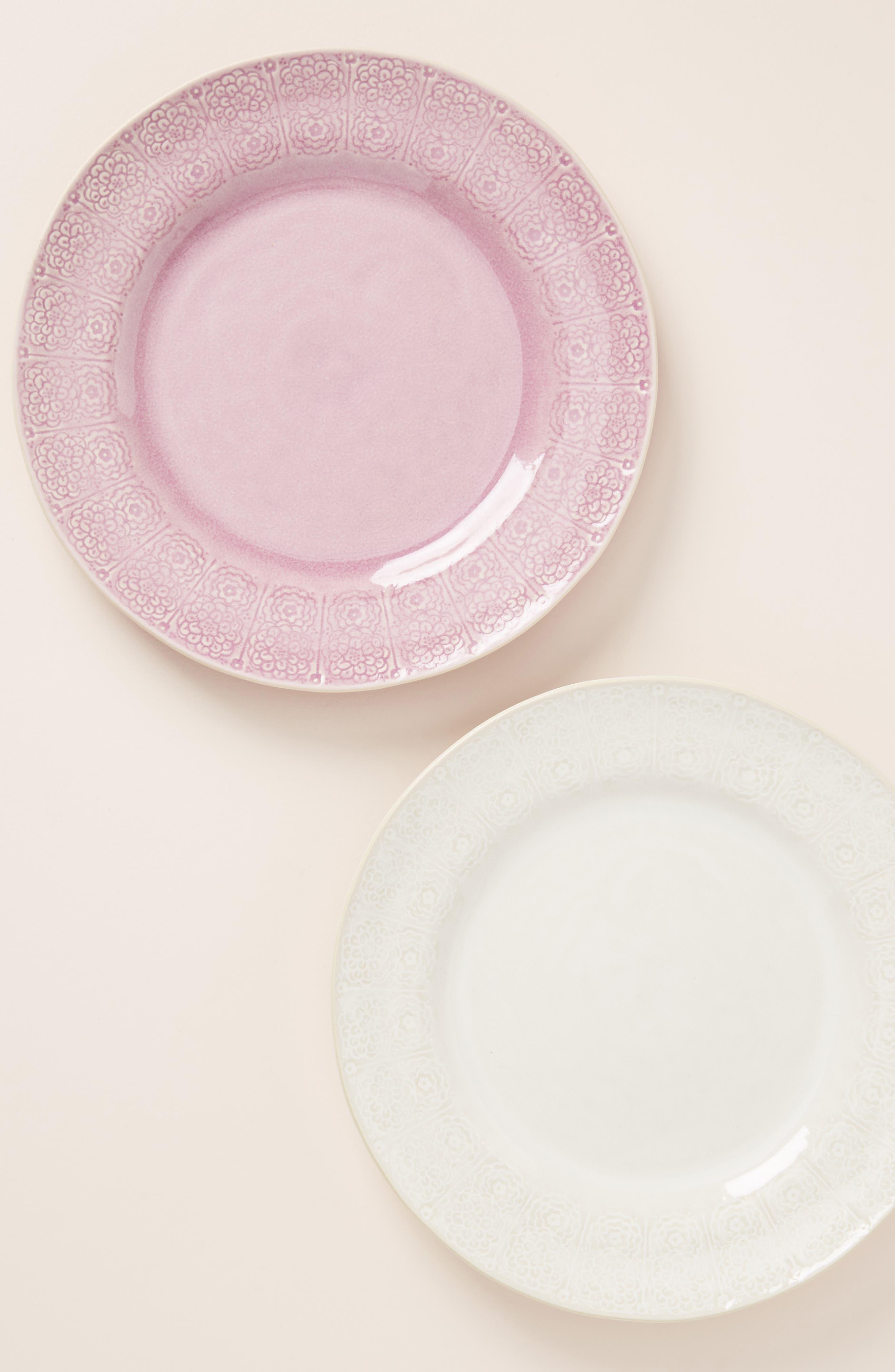 ANTHROPOLOGIE,                             Veru Dinner Plate,                             Main thumbnail 1, color,                             WHITE