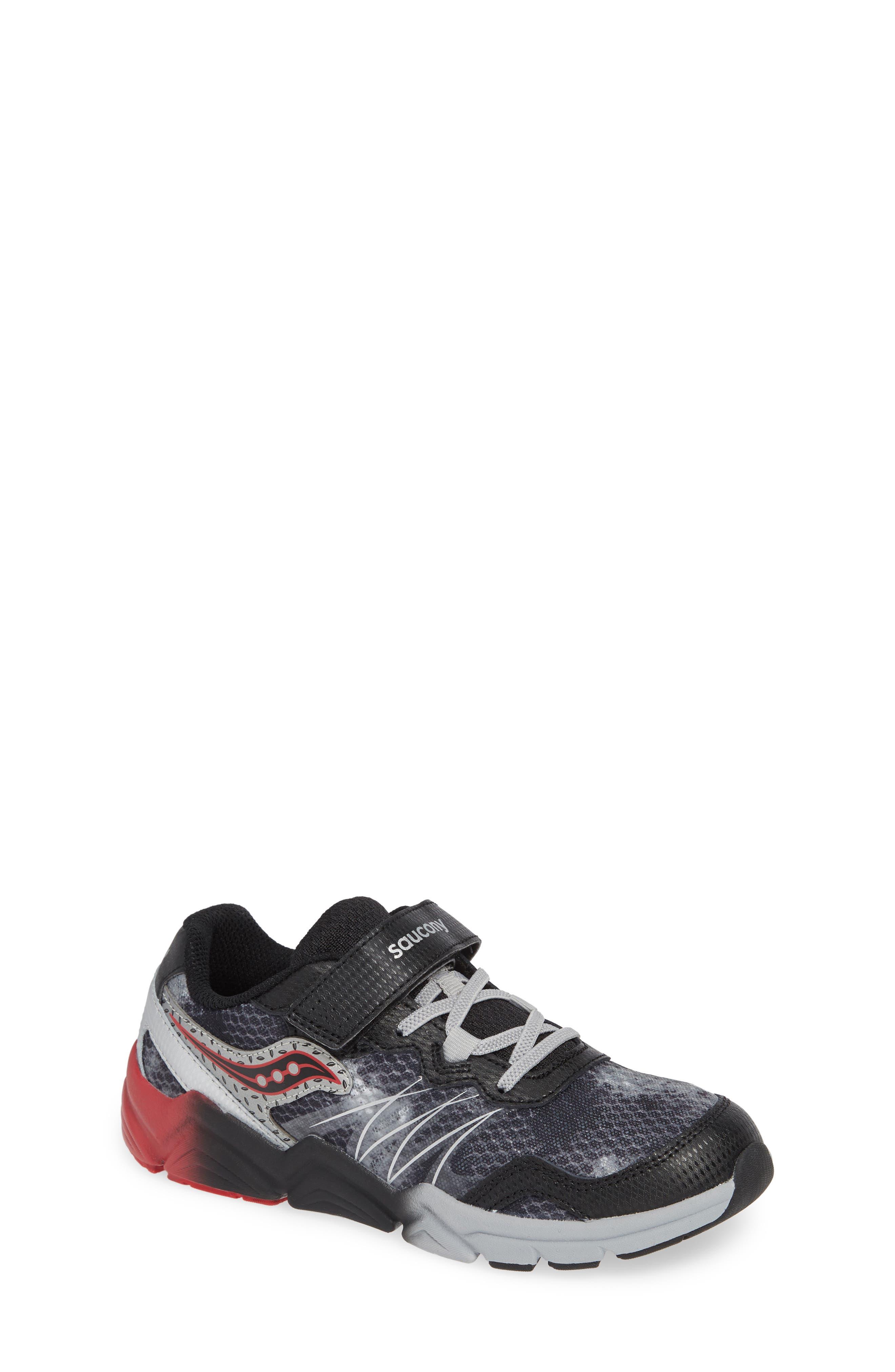 Kotaro Flash Sneaker,                             Main thumbnail 1, color,                             BLACK LEATHER/ MESH