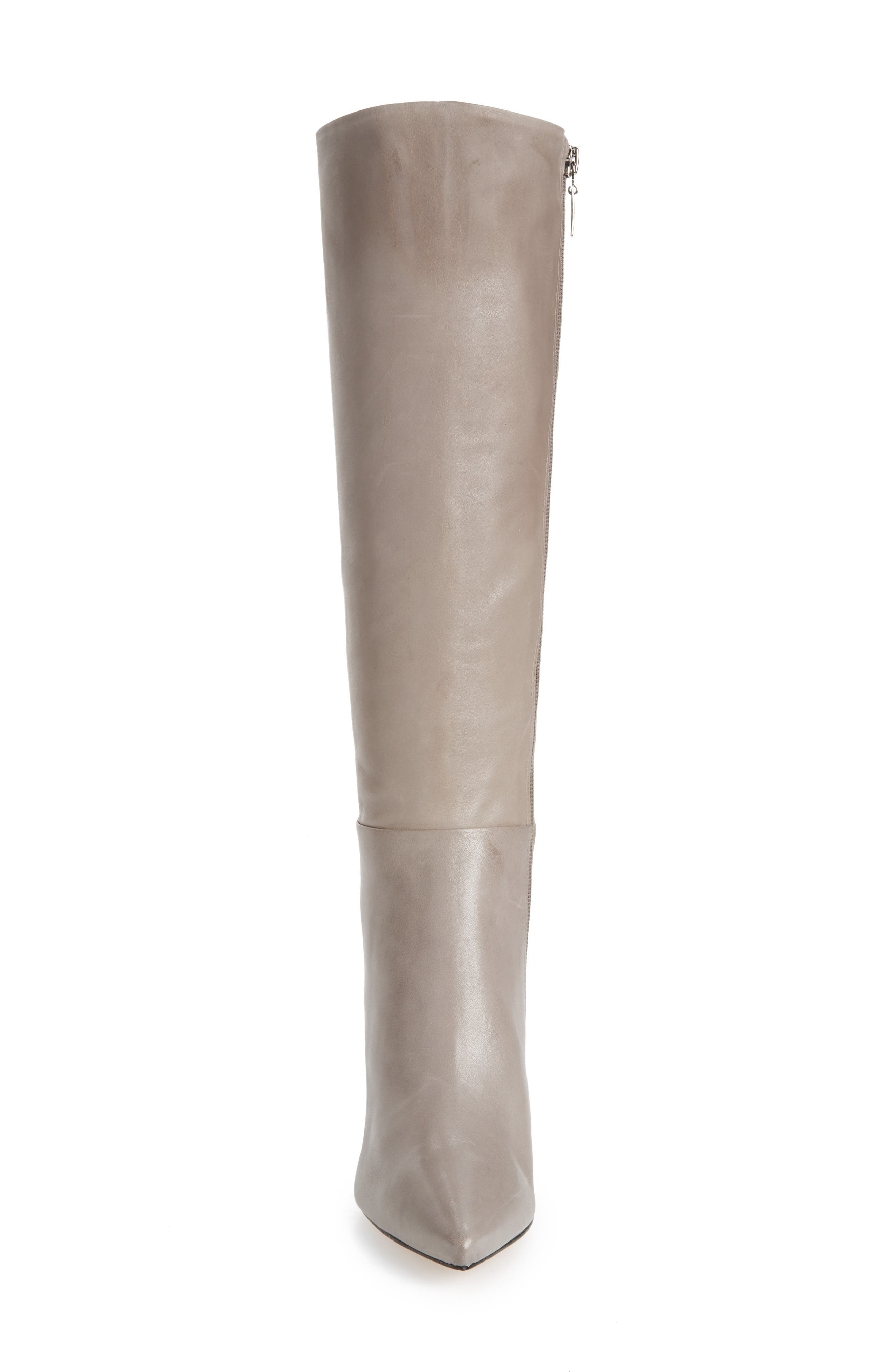 Magalli Knee High Boot,                             Alternate thumbnail 4, color,                             MOUSE LEATHER