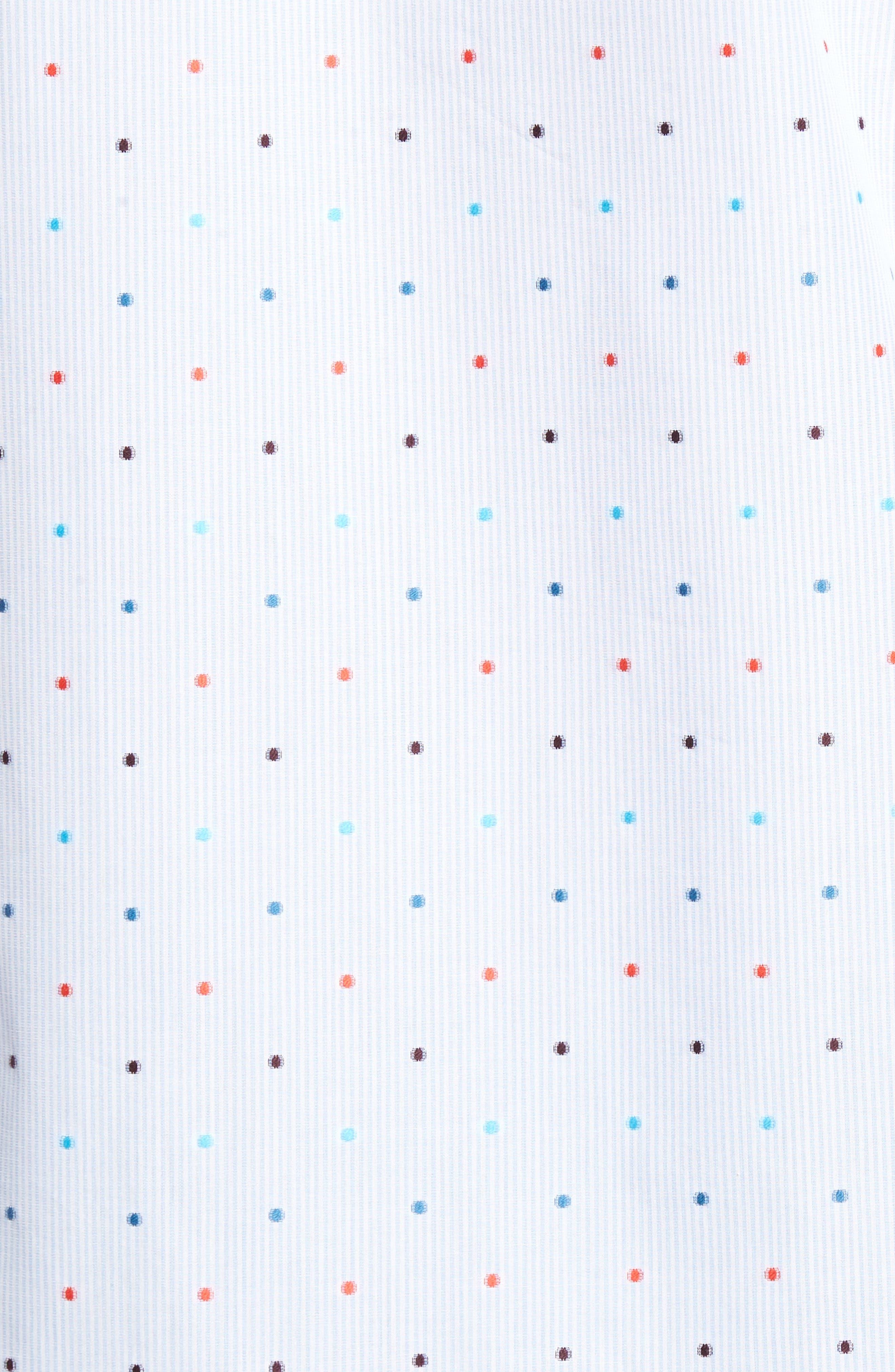 Classic Fit Dot Sport Shirt,                             Alternate thumbnail 5, color,