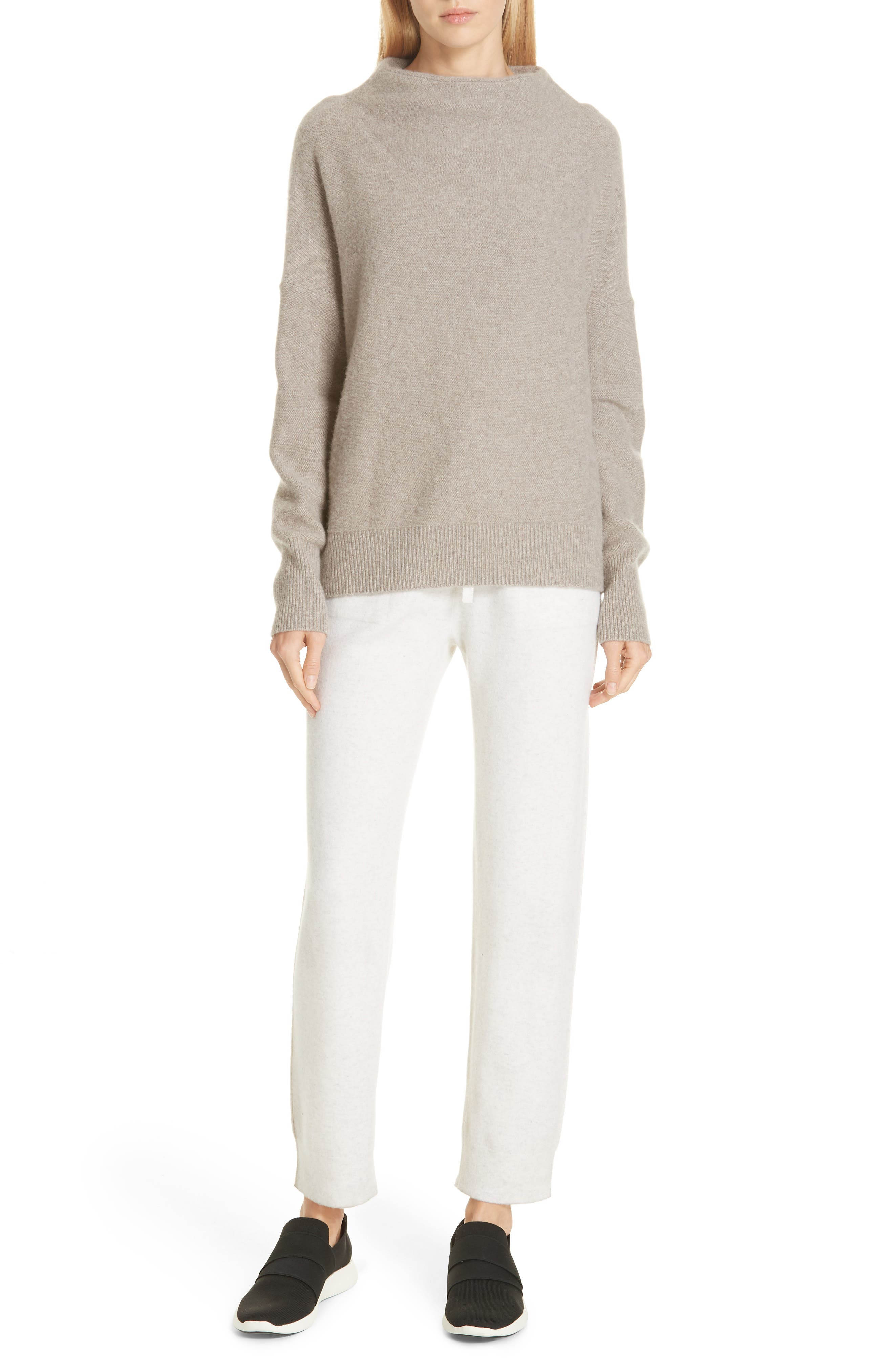 Funnel Neck Cashmere Sweater,                             Alternate thumbnail 7, color,                             201