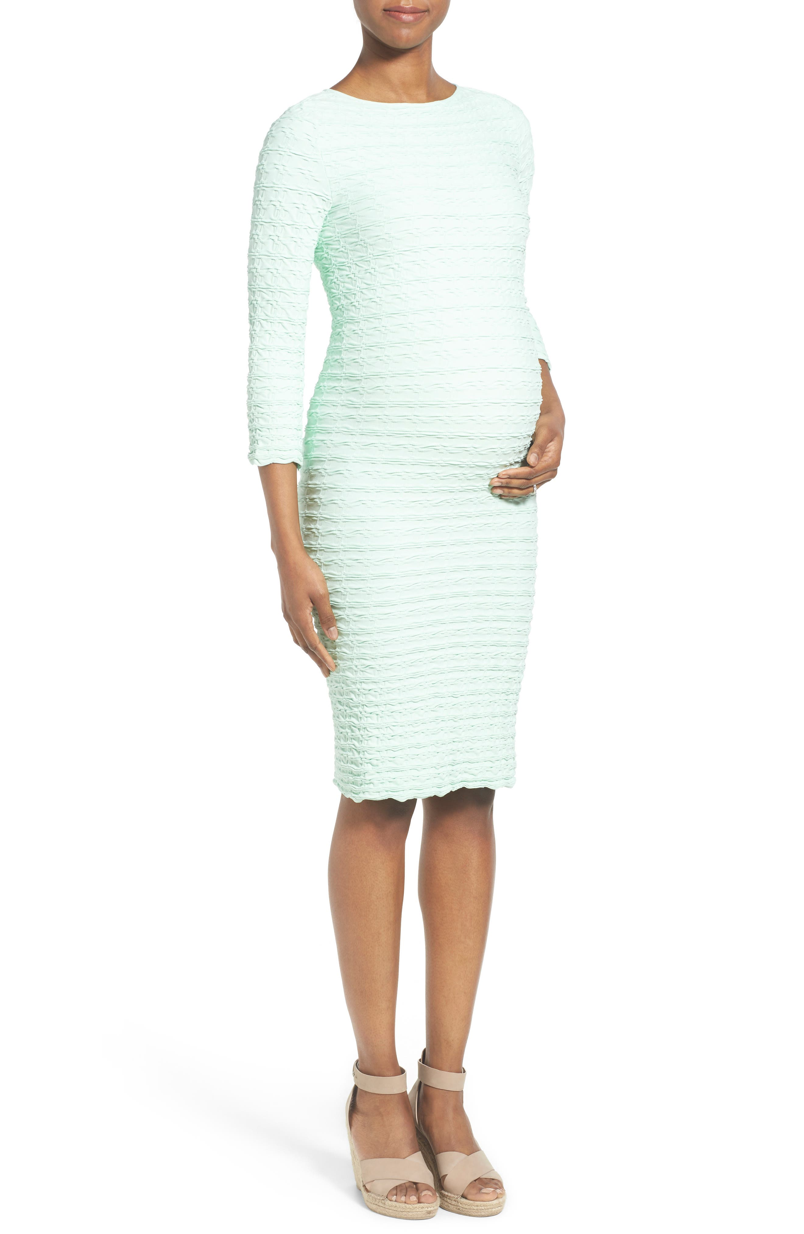 'Crinkle' Maternity Dress,                             Alternate thumbnail 6, color,                             115