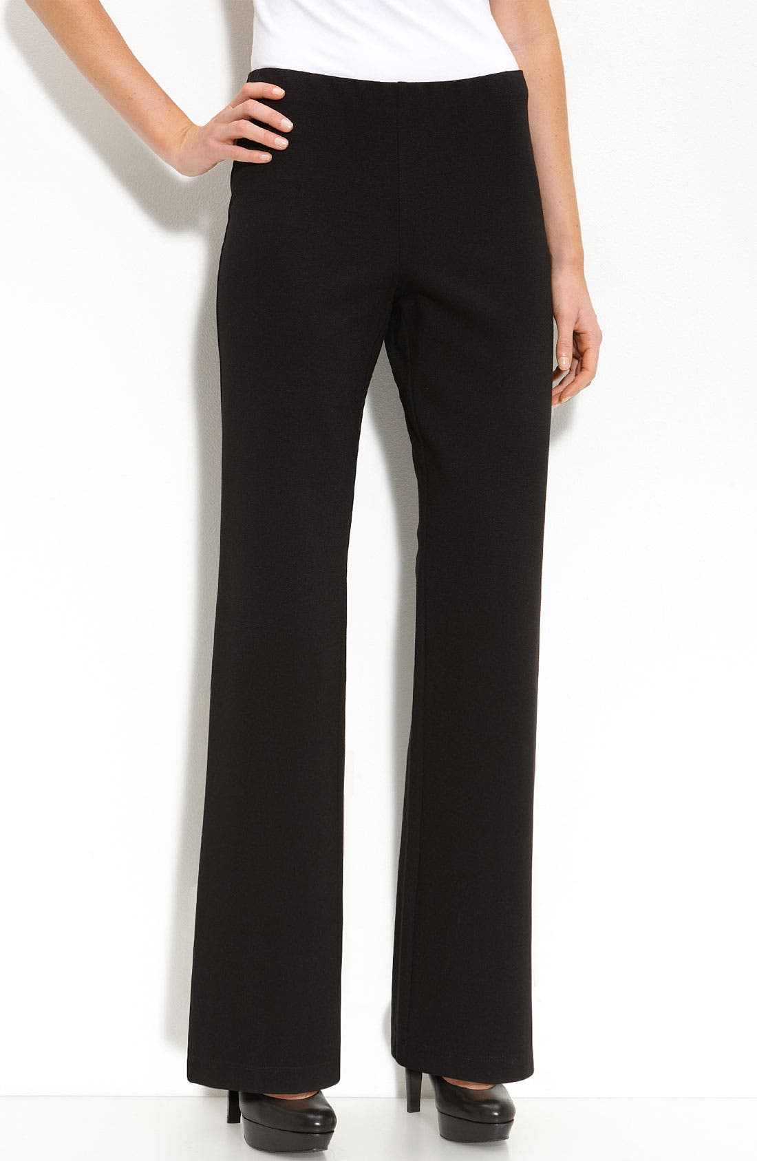 Straight Leg Ponte Pants,                             Alternate thumbnail 2, color,                             001