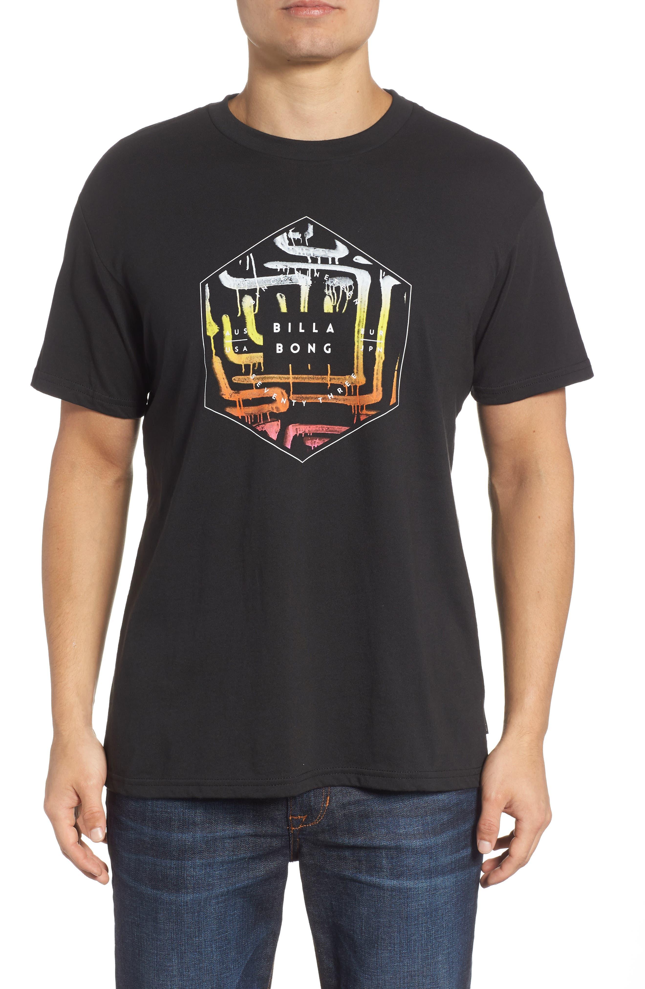 Access Graphic T-Shirt,                         Main,                         color, BLACK
