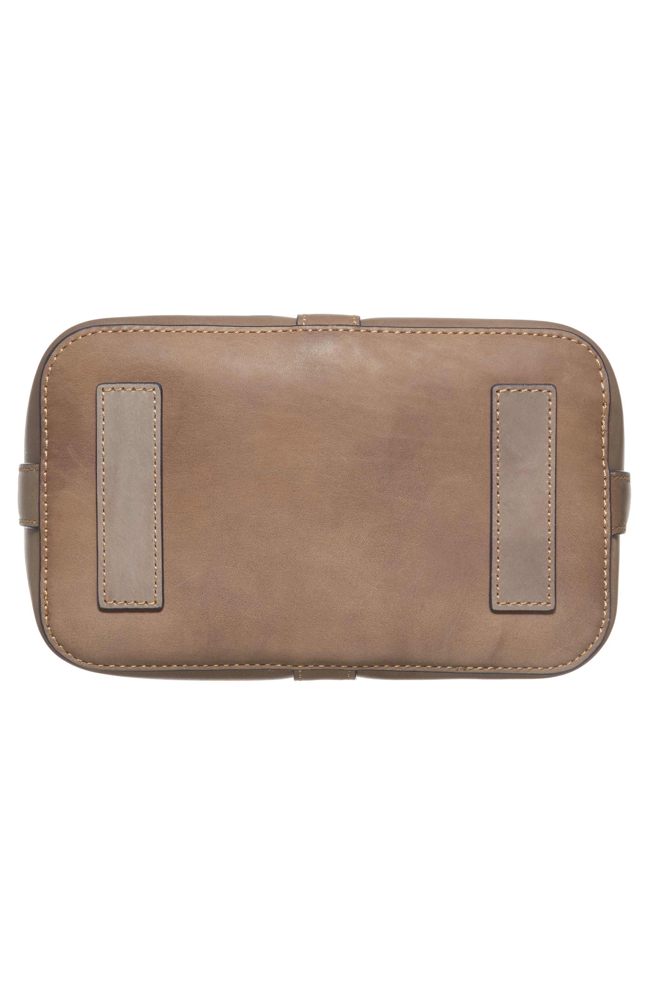 Ilana Leather Bucket Bag,                             Alternate thumbnail 6, color,                             030