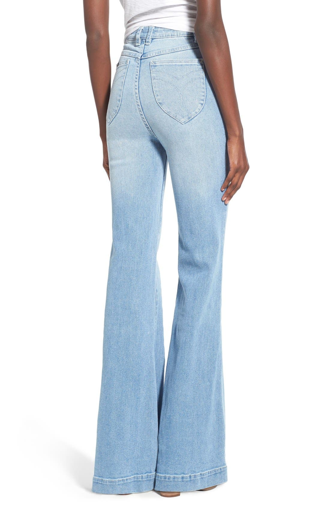 ROLLA'S,                             'East Coast' Flare Jeans,                             Alternate thumbnail 3, color,                             430