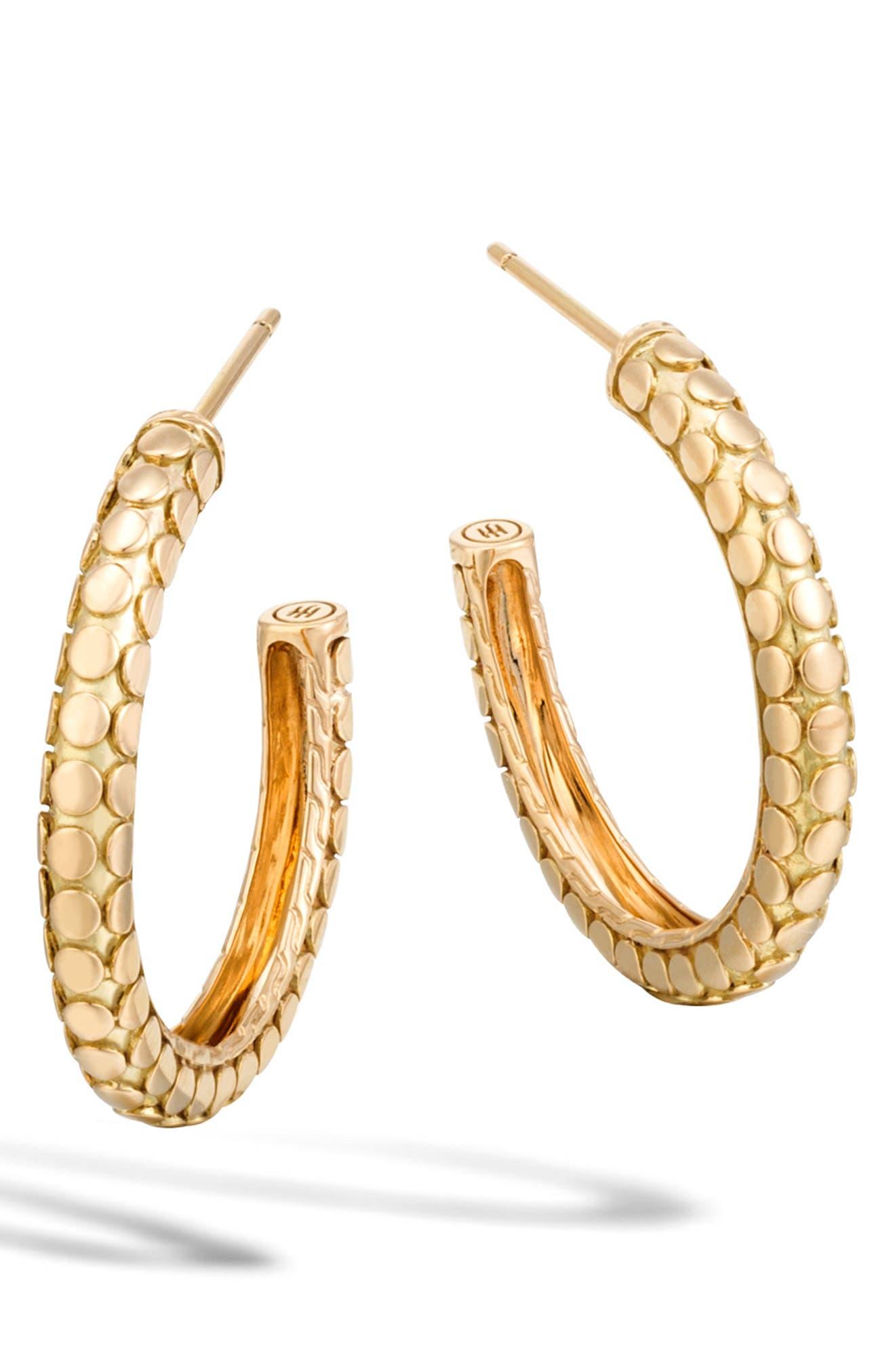 Dot Collection Hoop Earrings,                             Main thumbnail 1, color,                             710