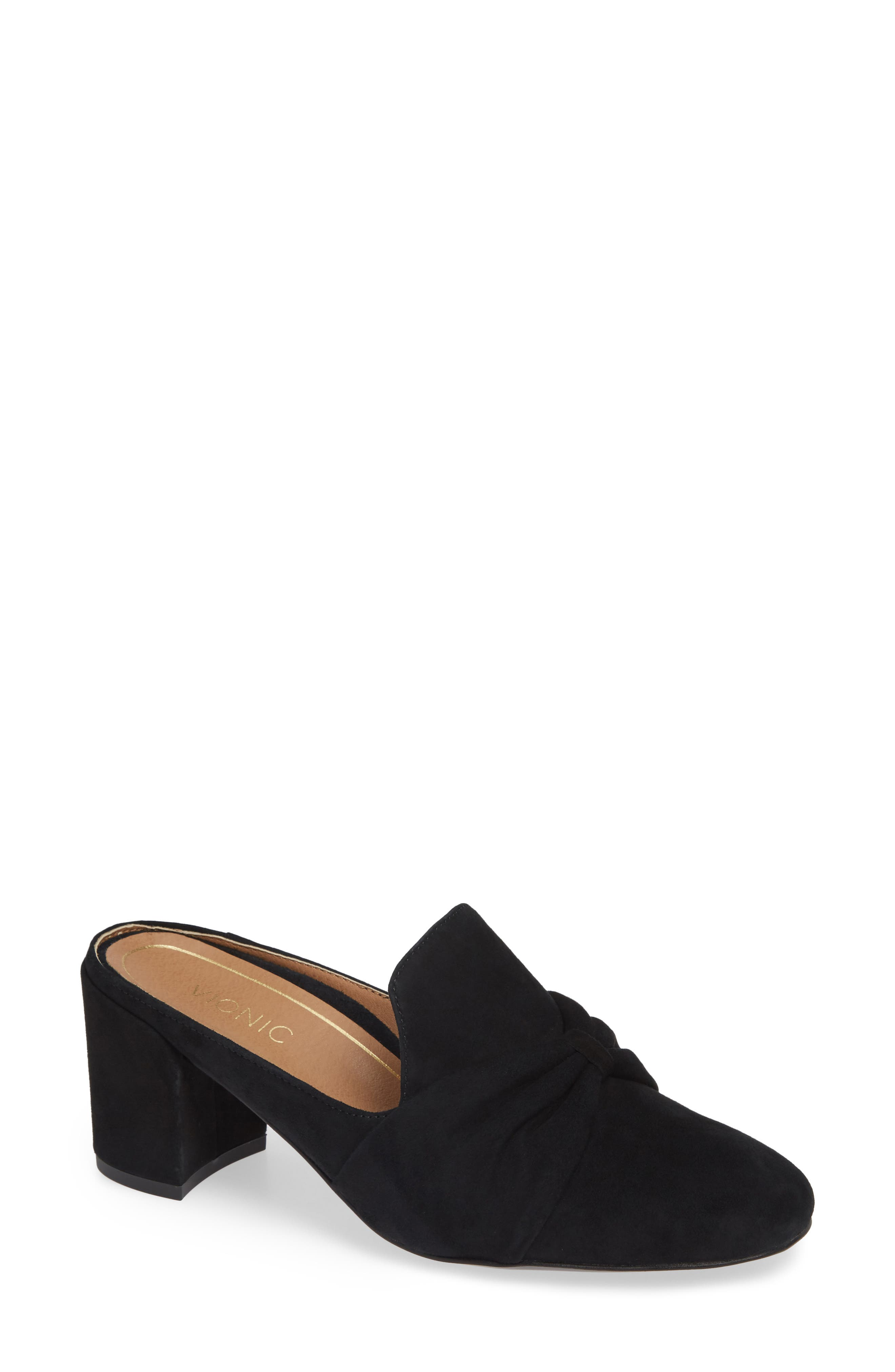 Presley Mule,                             Main thumbnail 1, color,                             BLACK SUEDE