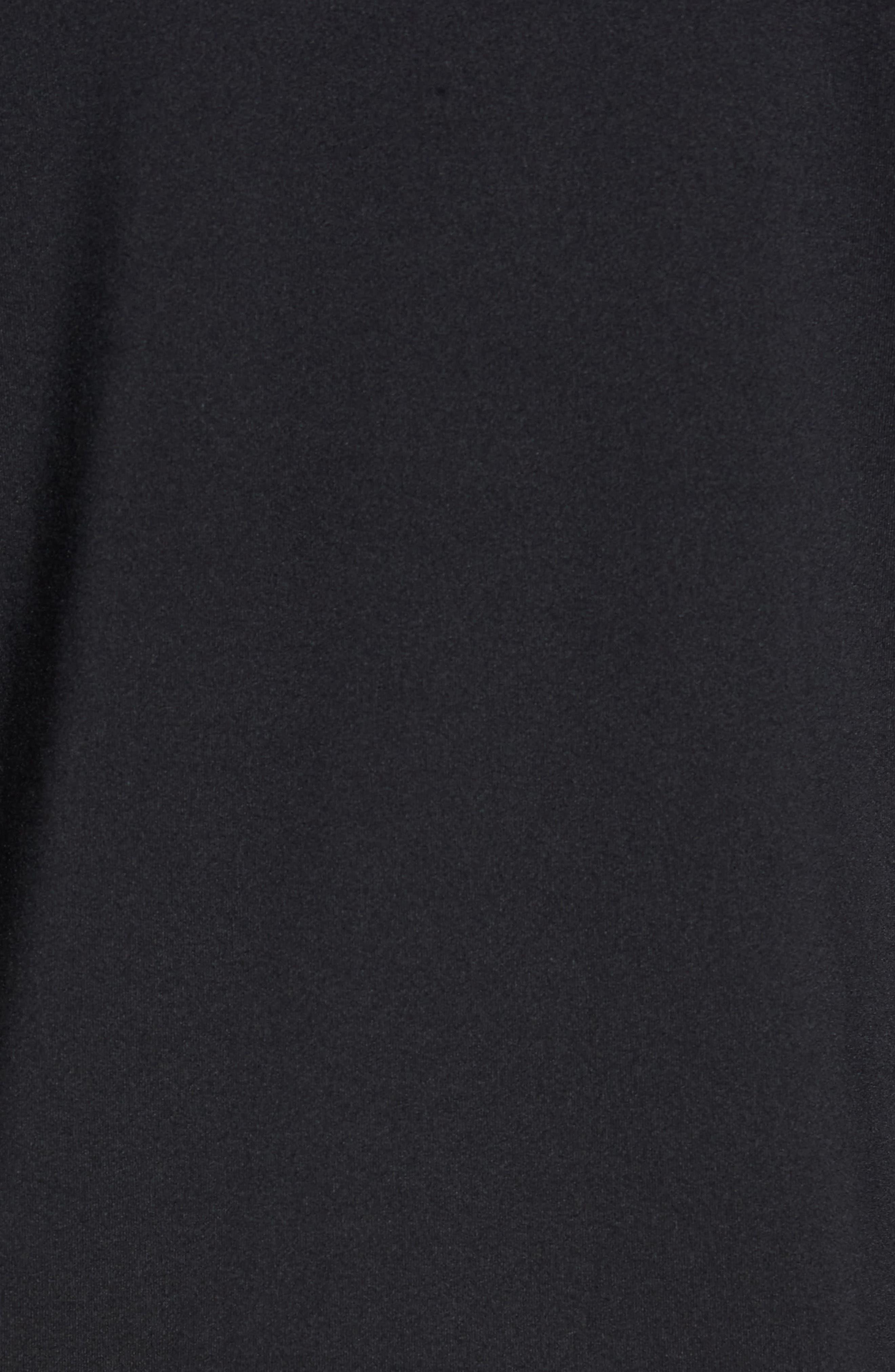 Pro Fitted Performance T-Shirt,                             Alternate thumbnail 5, color,                             BLACK/ WHITE/ WHITE