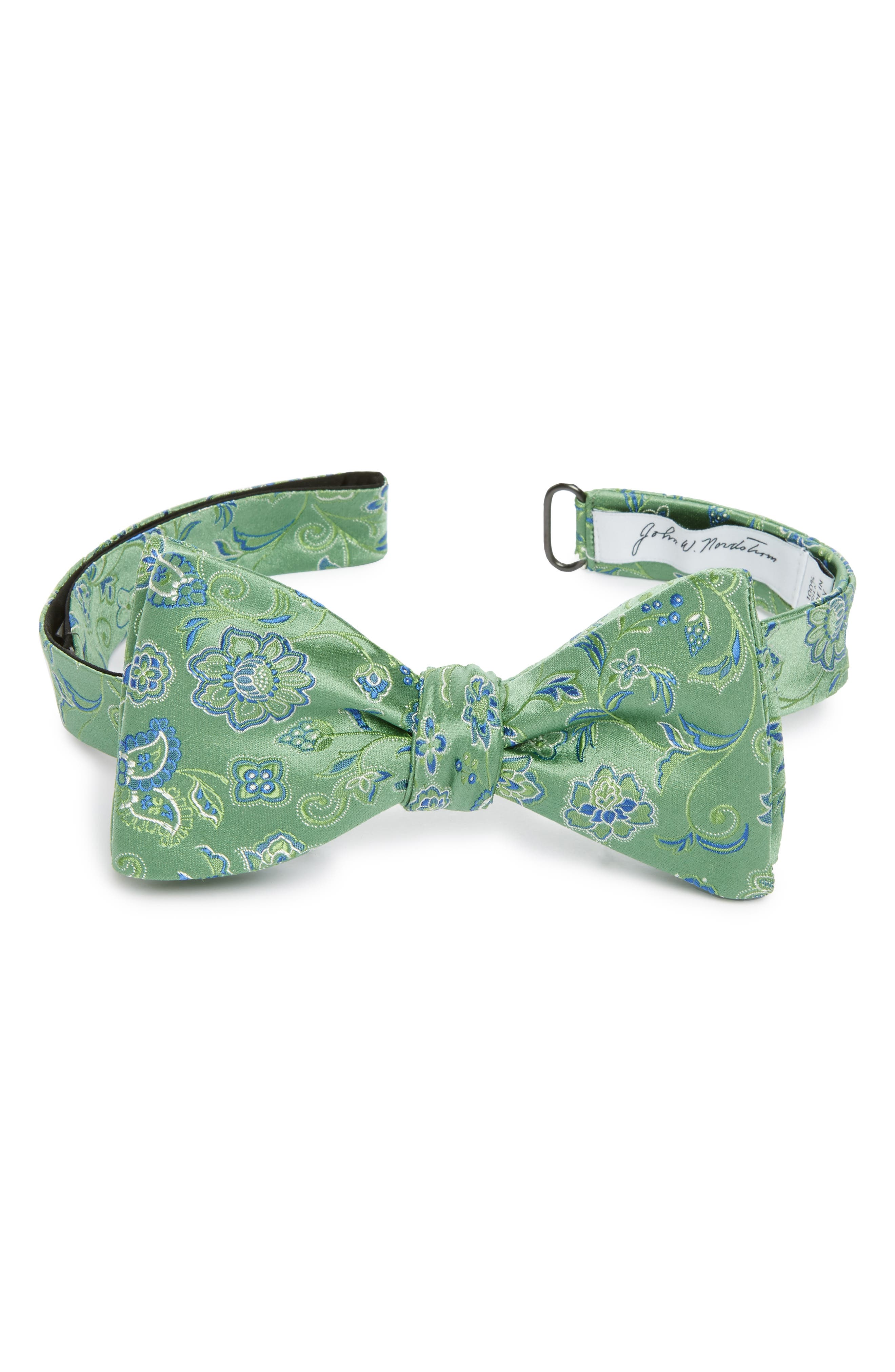 Floral Silk Bow Tie,                             Main thumbnail 2, color,