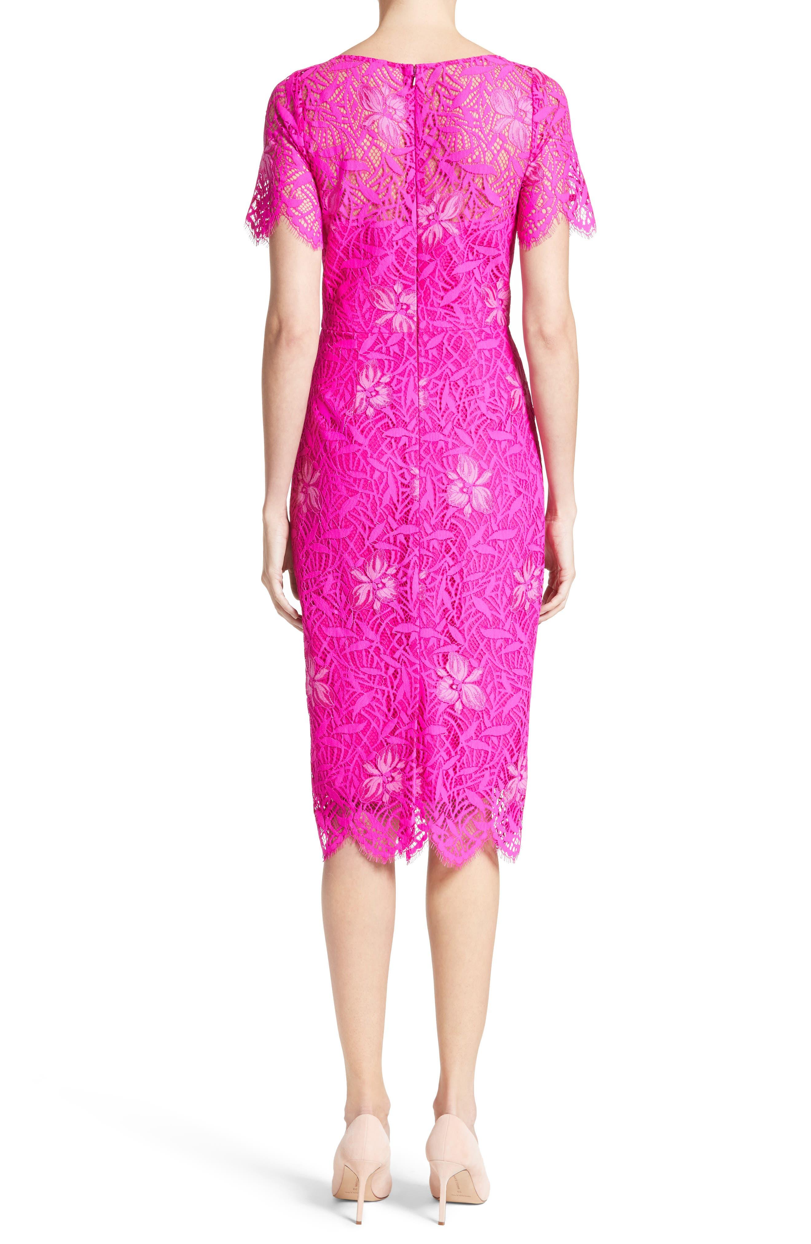 Floral Lace Sheath Dress,                             Alternate thumbnail 2, color,                             659