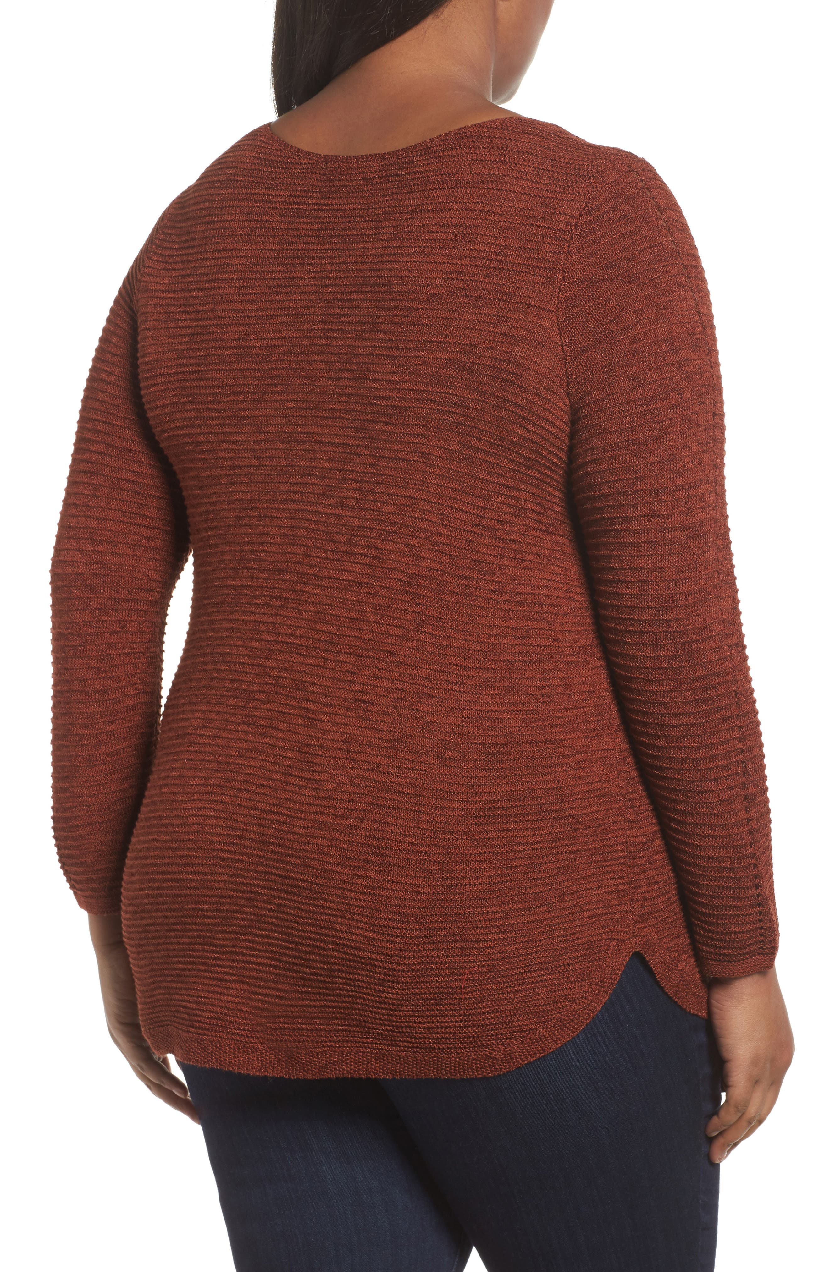 Braided Up Sweater,                             Alternate thumbnail 2, color,                             BRANDY
