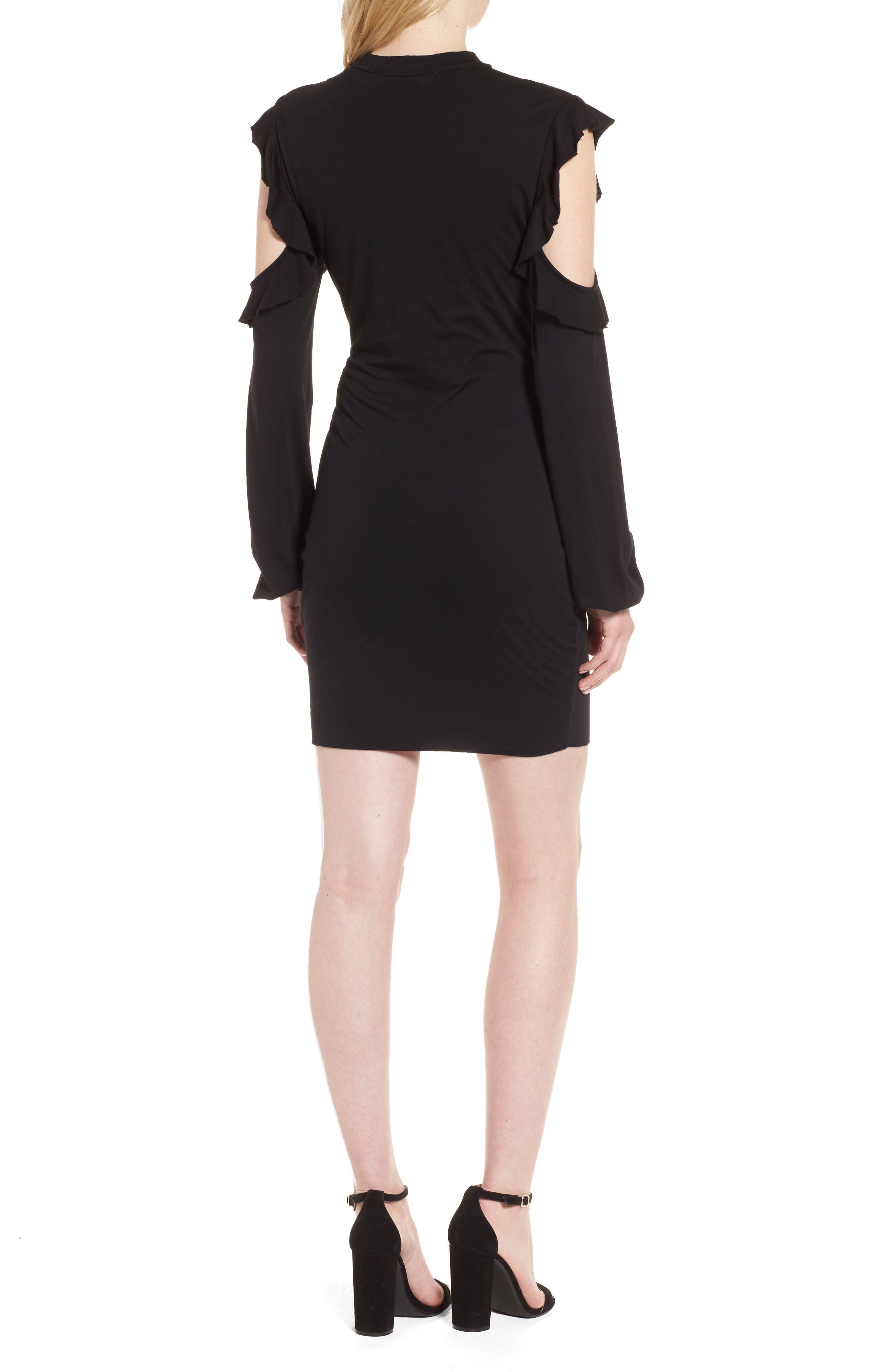 Cold Shoulder Sheath Dress,                             Alternate thumbnail 2, color,                             001