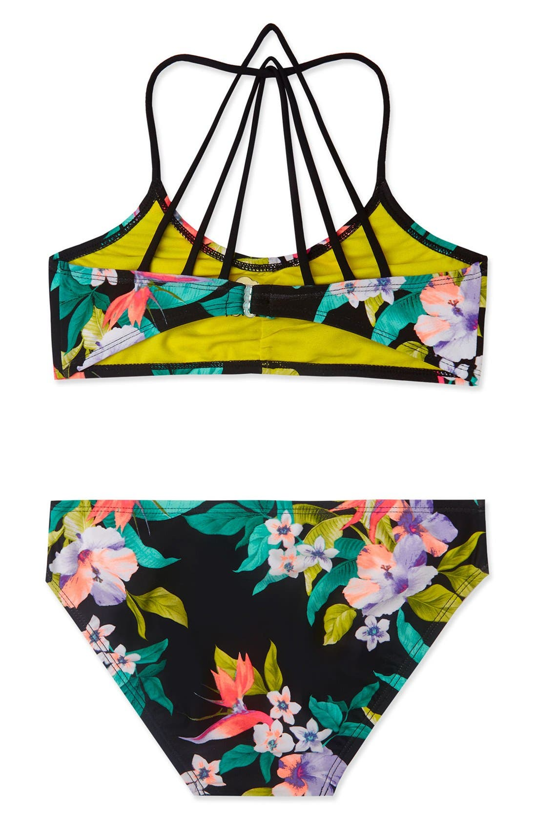 'Paradiso' Print Two-Piece Swimsuit,                             Alternate thumbnail 4, color,                             001