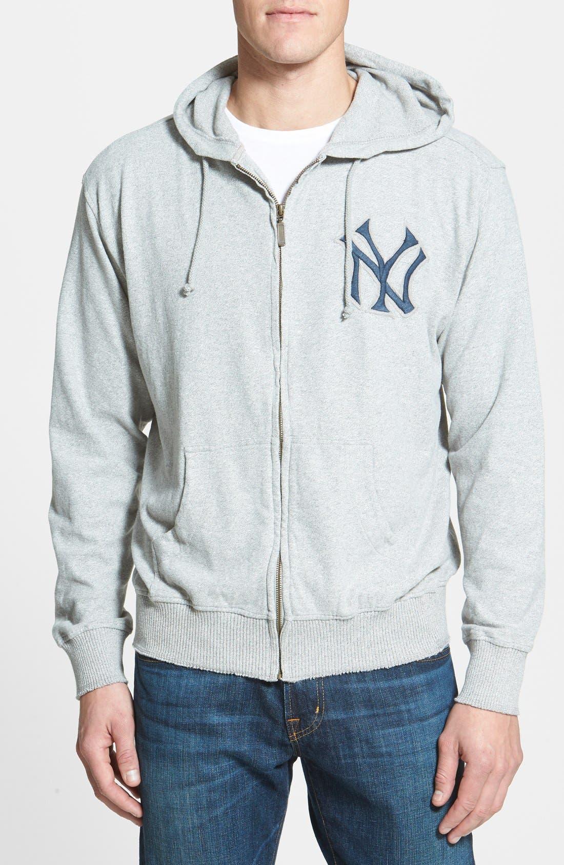 'New York Yankees' Zip Hoodie,                             Main thumbnail 1, color,                             062