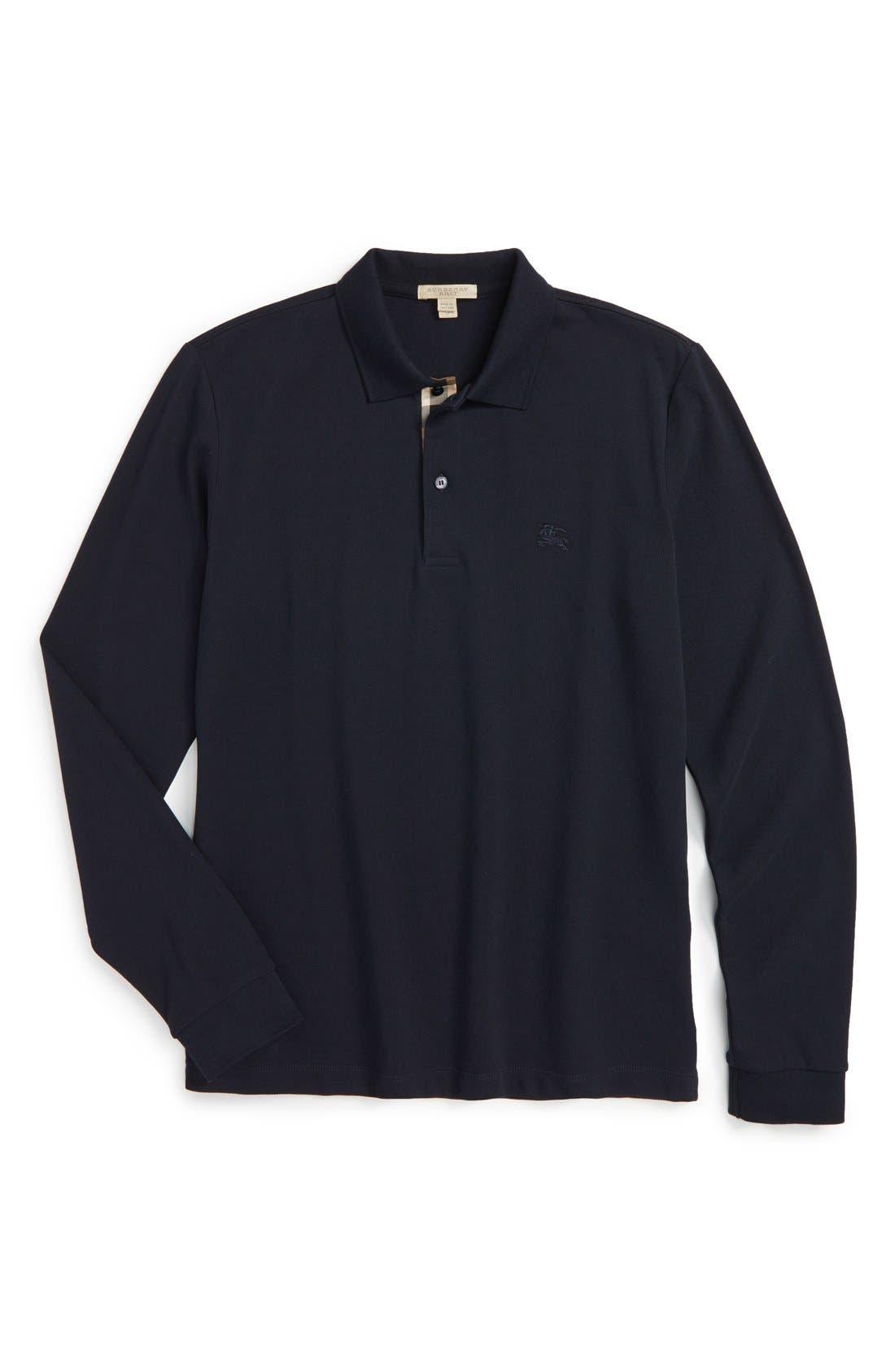 Brit 'Oxford' Long Sleeve Polo,                             Alternate thumbnail 11, color,